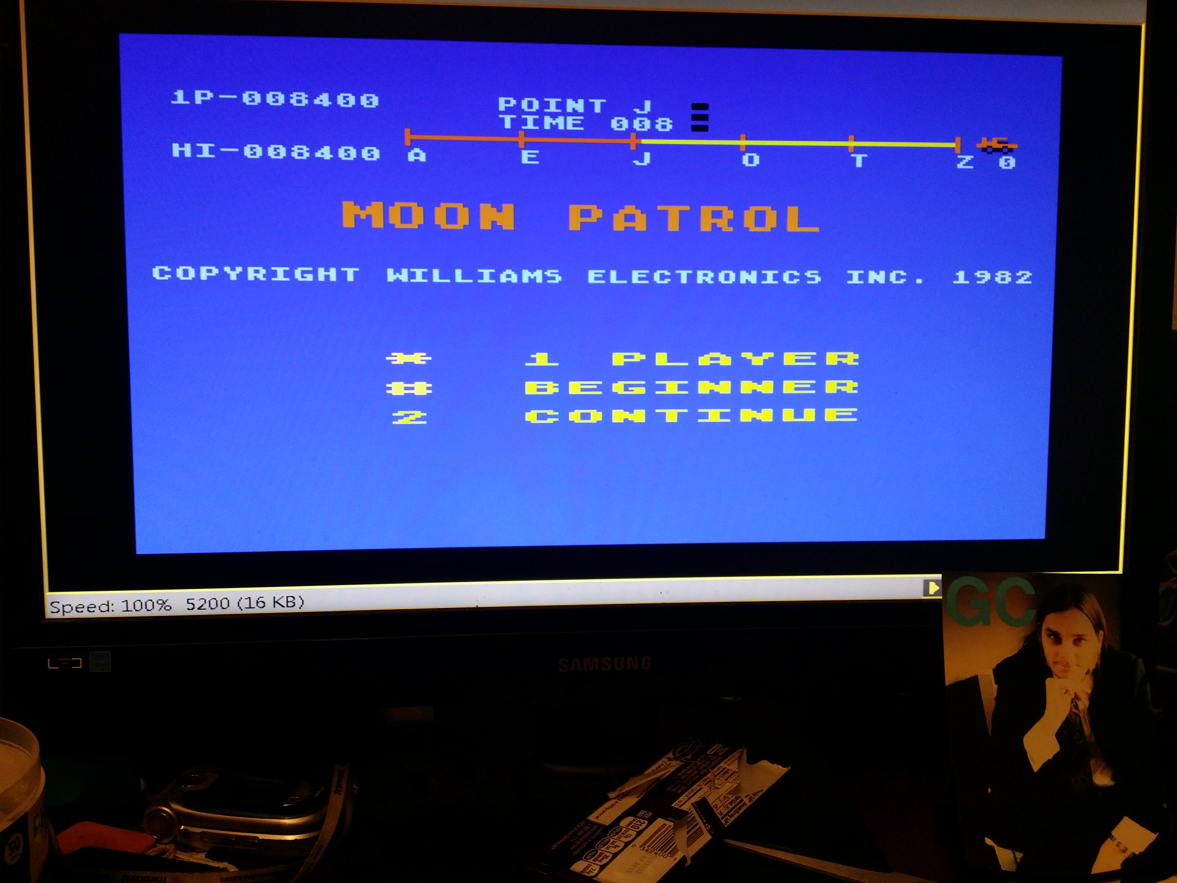 Moon Patrol: Beginner 8,400 points