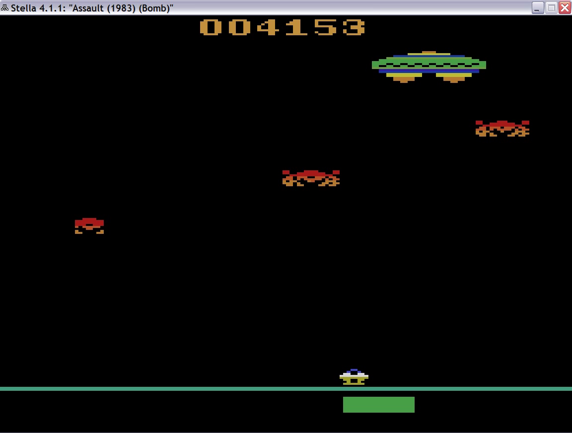 uNi73: Assault (Atari 2600 Emulated) 4,153 points on 2014-11-17 11:06:41