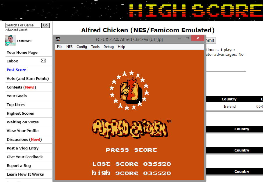 FosterAMF: Alfred Chicken (NES/Famicom Emulated) 35,520 points on 2014-11-17 13:59:30