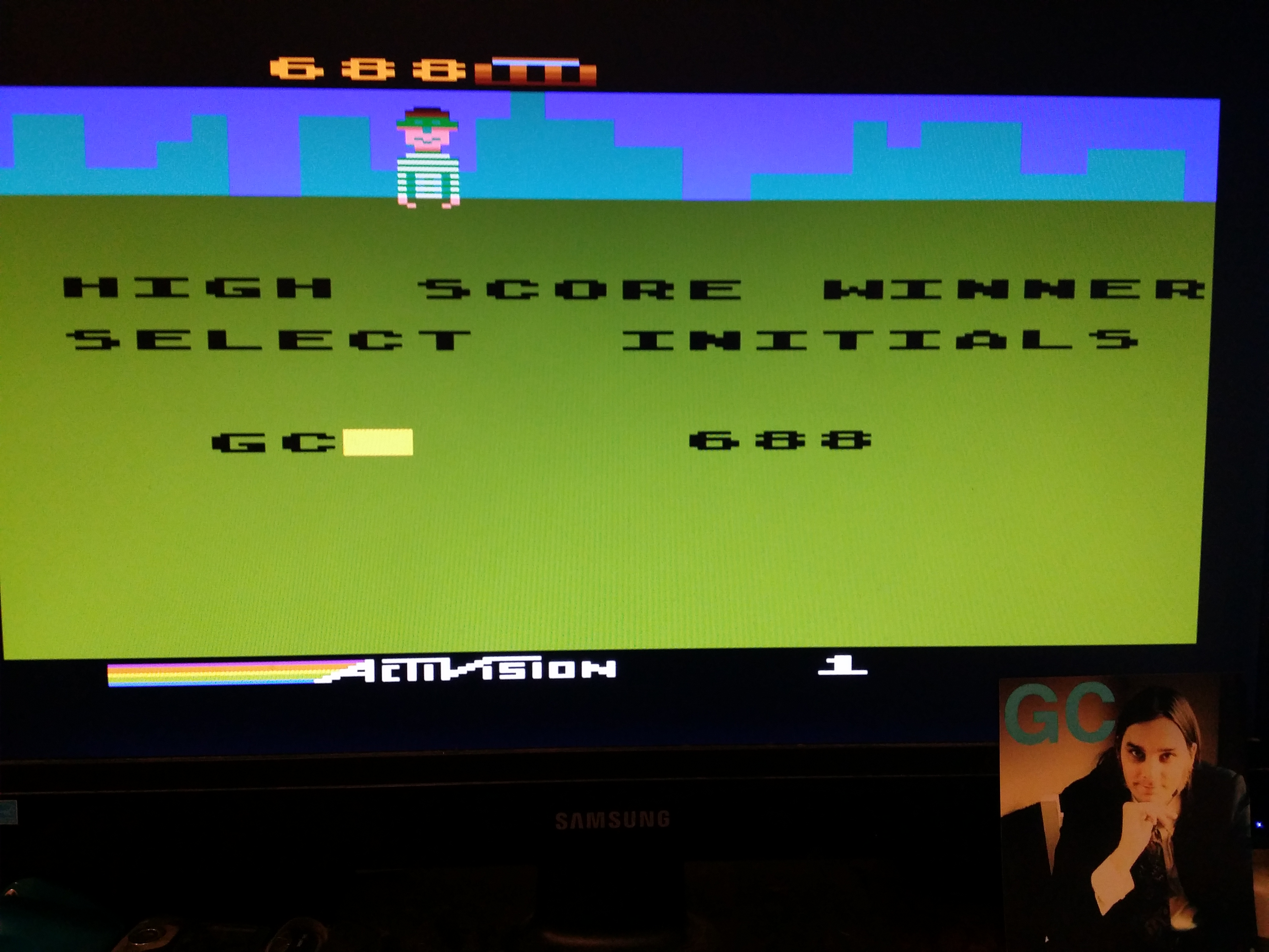 glenncase: Kaboom! (Atari 5200 Emulated) 688 points on 2014-11-17 23:04:58