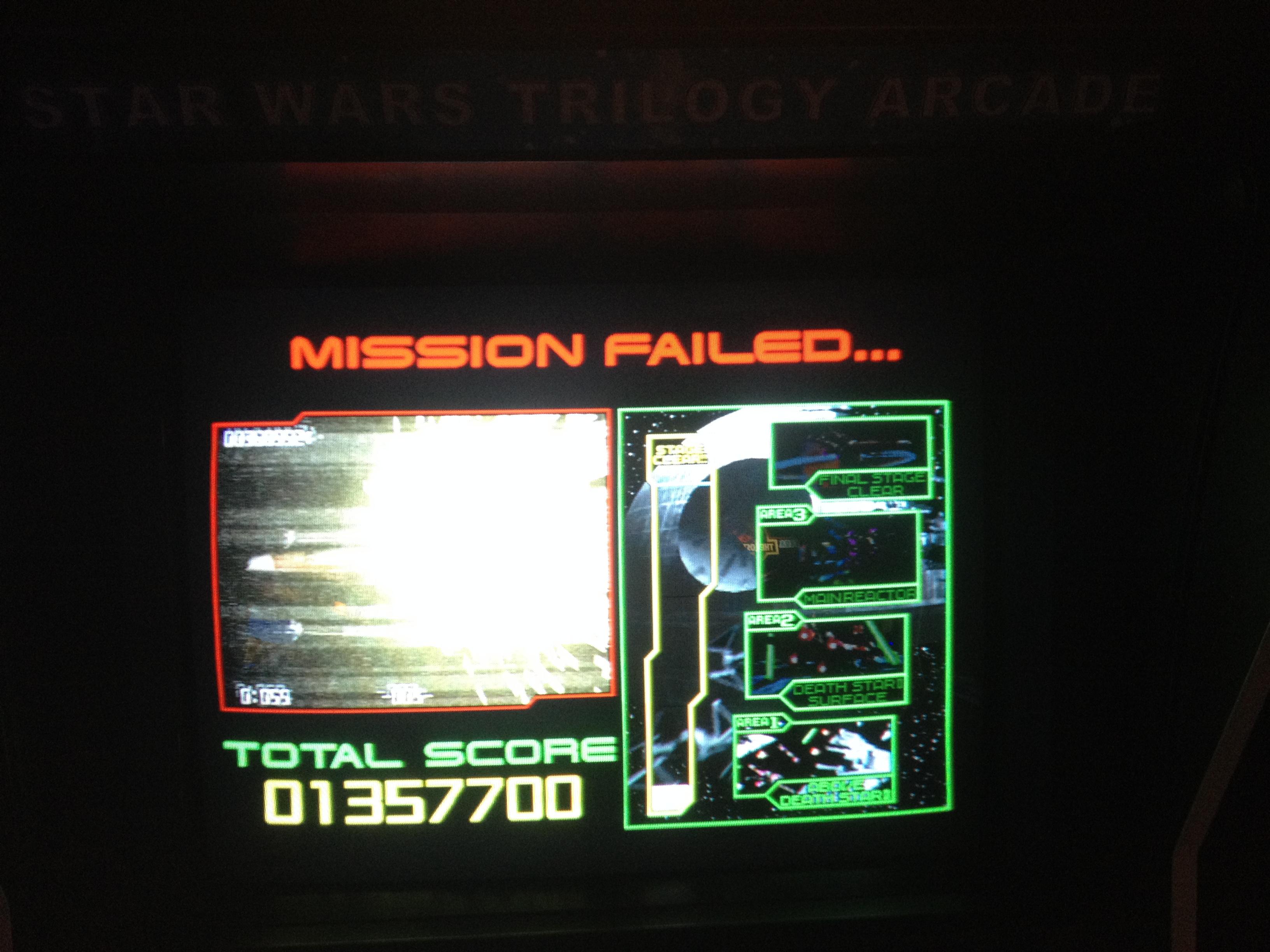 FosterAMF: Star Wars Trilogy Arcade (Arcade) 1,357,700 points on 2014-11-18 13:36:50