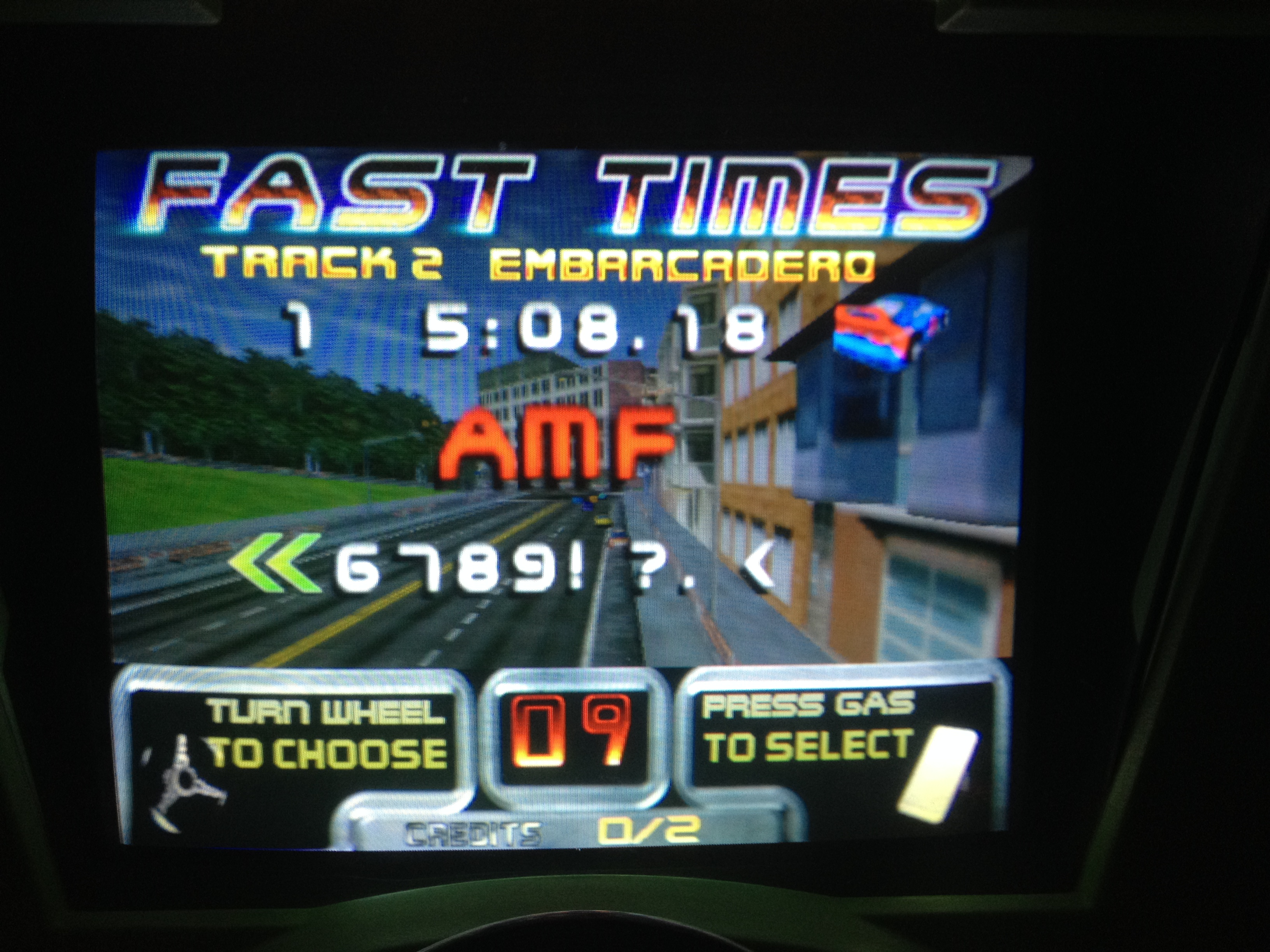 FosterAMF: San Francisco Rush: The Rock [Track 2] (Arcade) 0:05:08.18 points on 2014-11-18 13:39:15