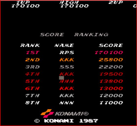 RichyS: Contra [contra] (Arcade Emulated / M.A.M.E.) 170,100 points on 2014-11-18 17:01:47