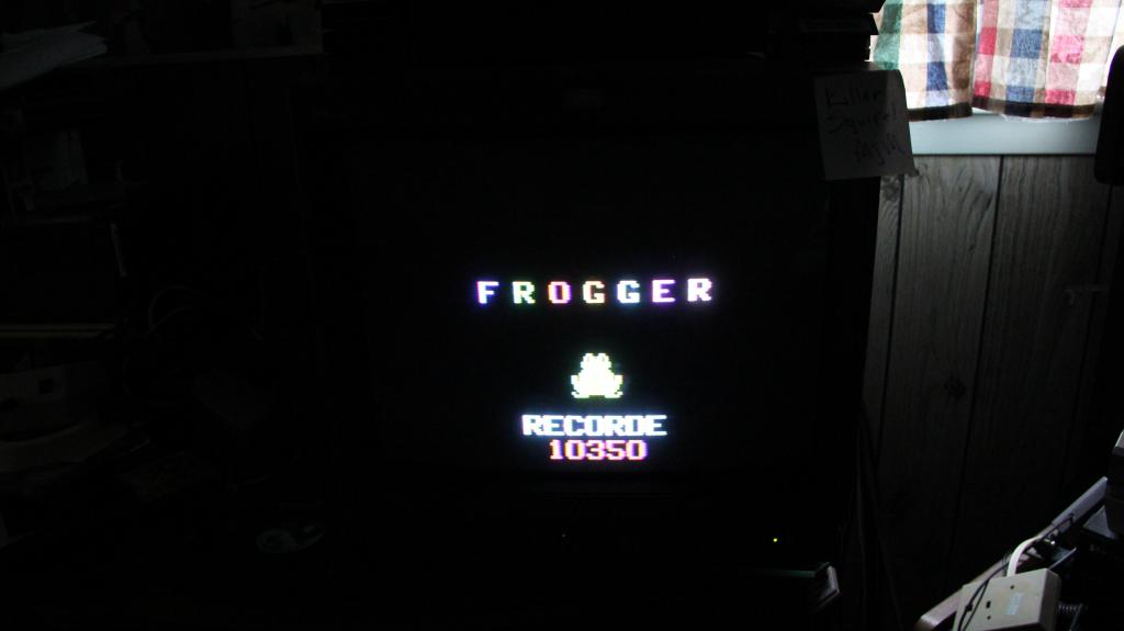 Frogger 10,350 points