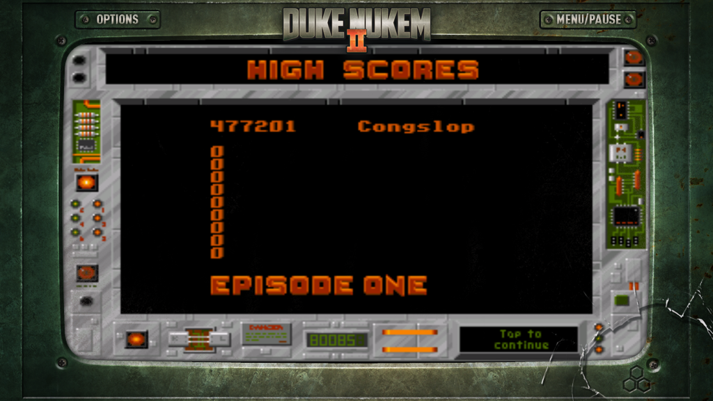 Congslop: Duke Nukem 2: Episode 1 (iOS) 477,201 points on 2014-11-19 17:26:23