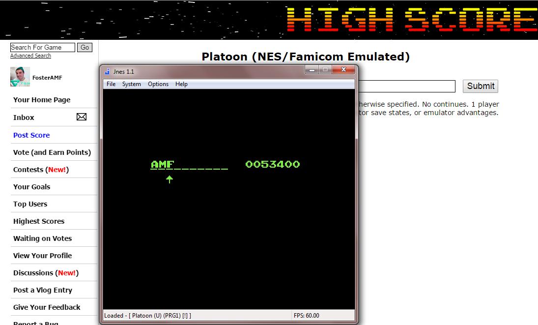 FosterAMF: Platoon (NES/Famicom Emulated) 53,400 points on 2014-11-19 17:47:51