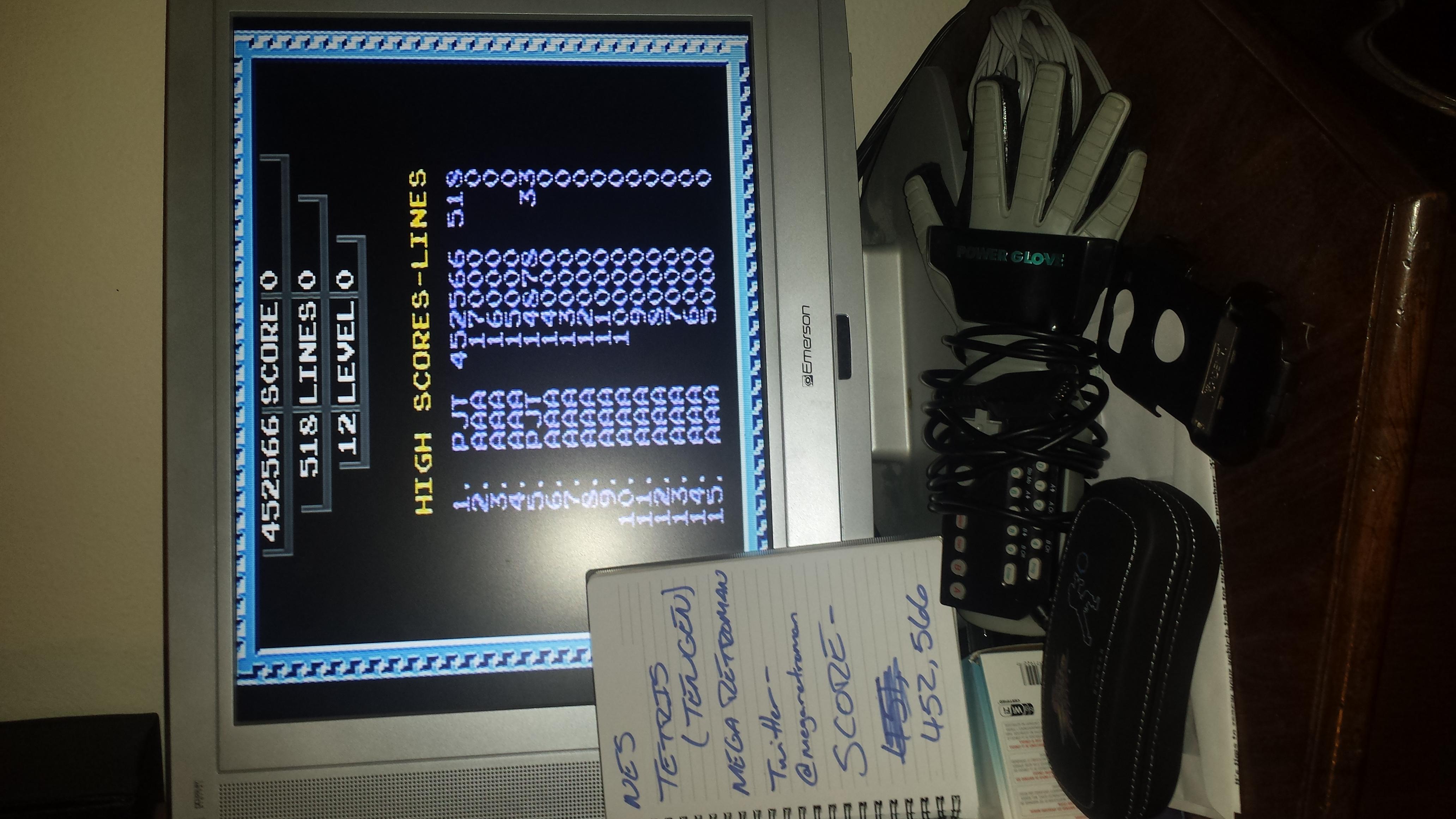 Tetris [Tengen] 452,566 points