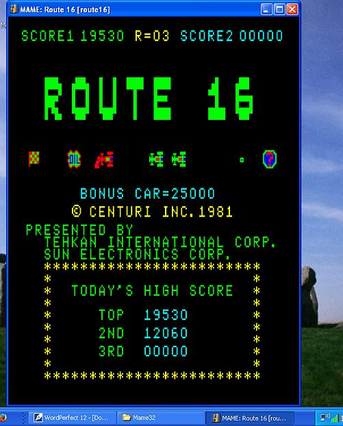 DarrylB: Route 16 (Arcade Emulated / M.A.M.E.) 19,530 points on 2014-11-20 19:50:39