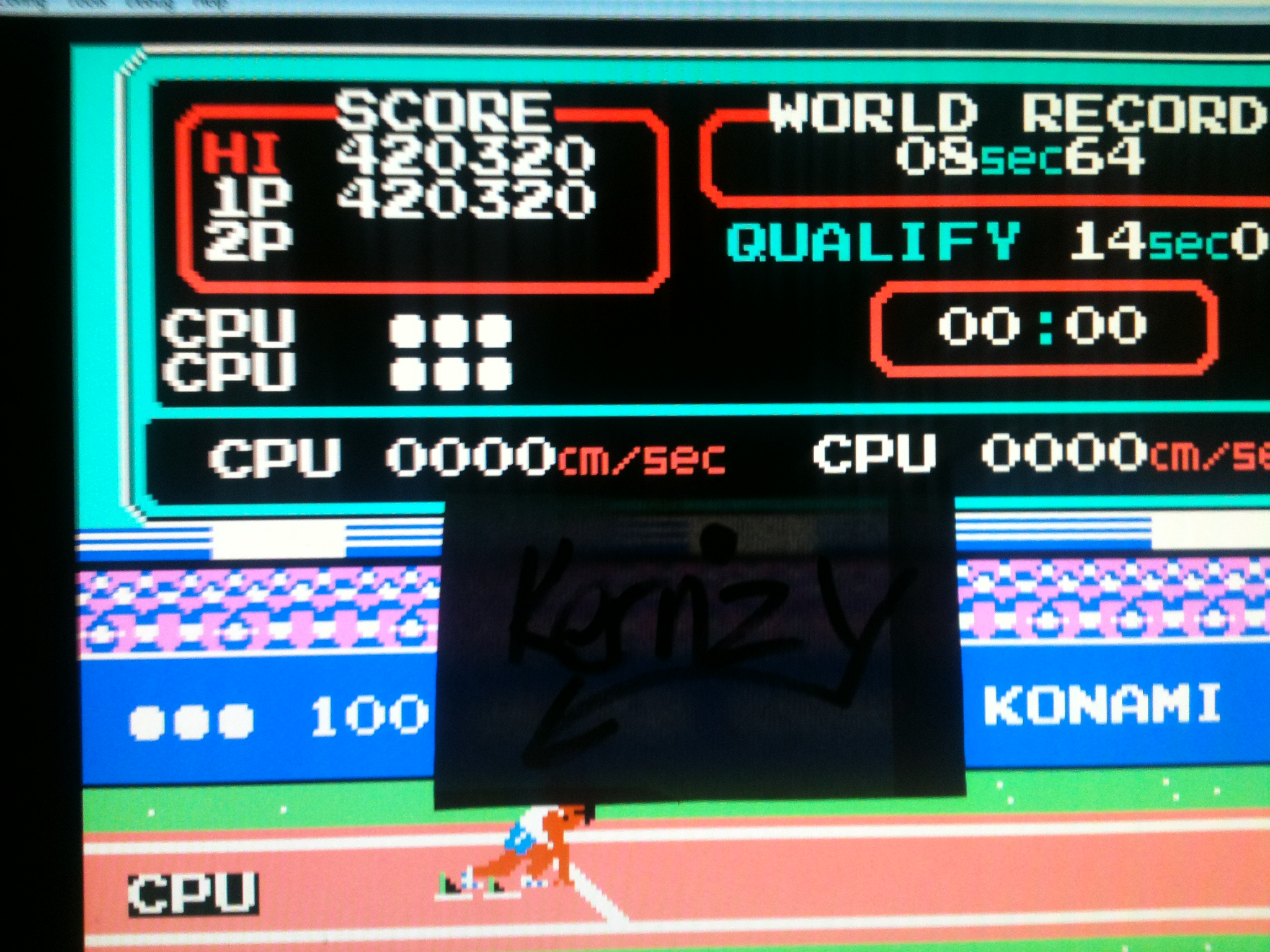 kernzy: Track and Field: Level A (NES/Famicom Emulated) 420,320 points on 2014-11-21 09:46:16