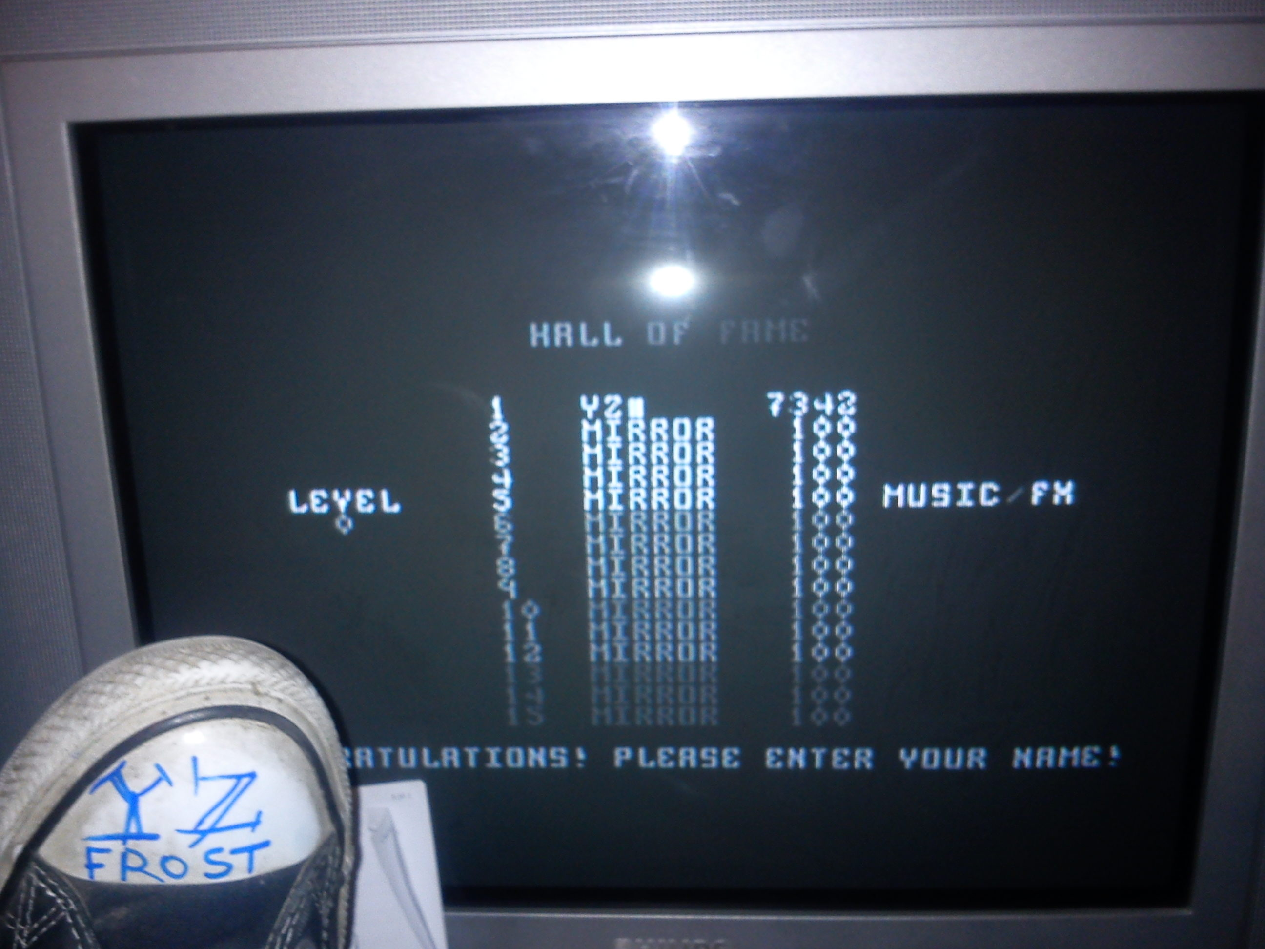 Fr0st: Tetris (Commodore 64) 7,342 points on 2014-11-21 14:47:58