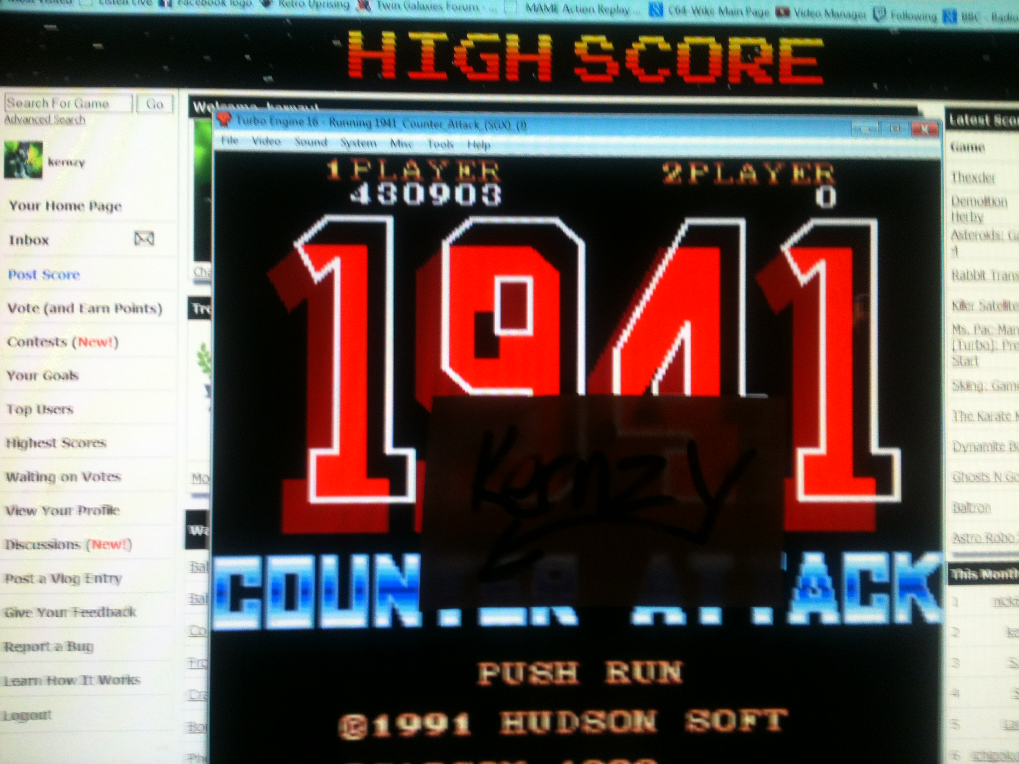 kernzy: 1941: Counter Attack (TurboGrafx-16/PC Engine Emulated) 430,903 points on 2014-11-25 05:32:27