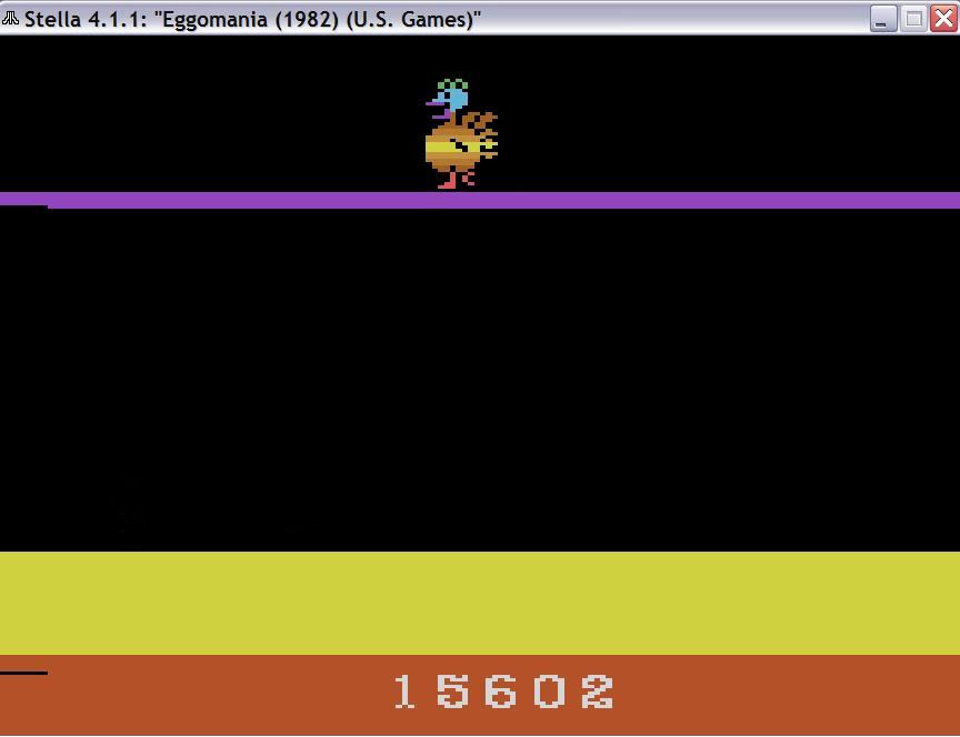 uNi73: Eggomania (Atari 2600 Emulated Novice/B Mode) 15,602 points on 2014-11-26 08:58:11
