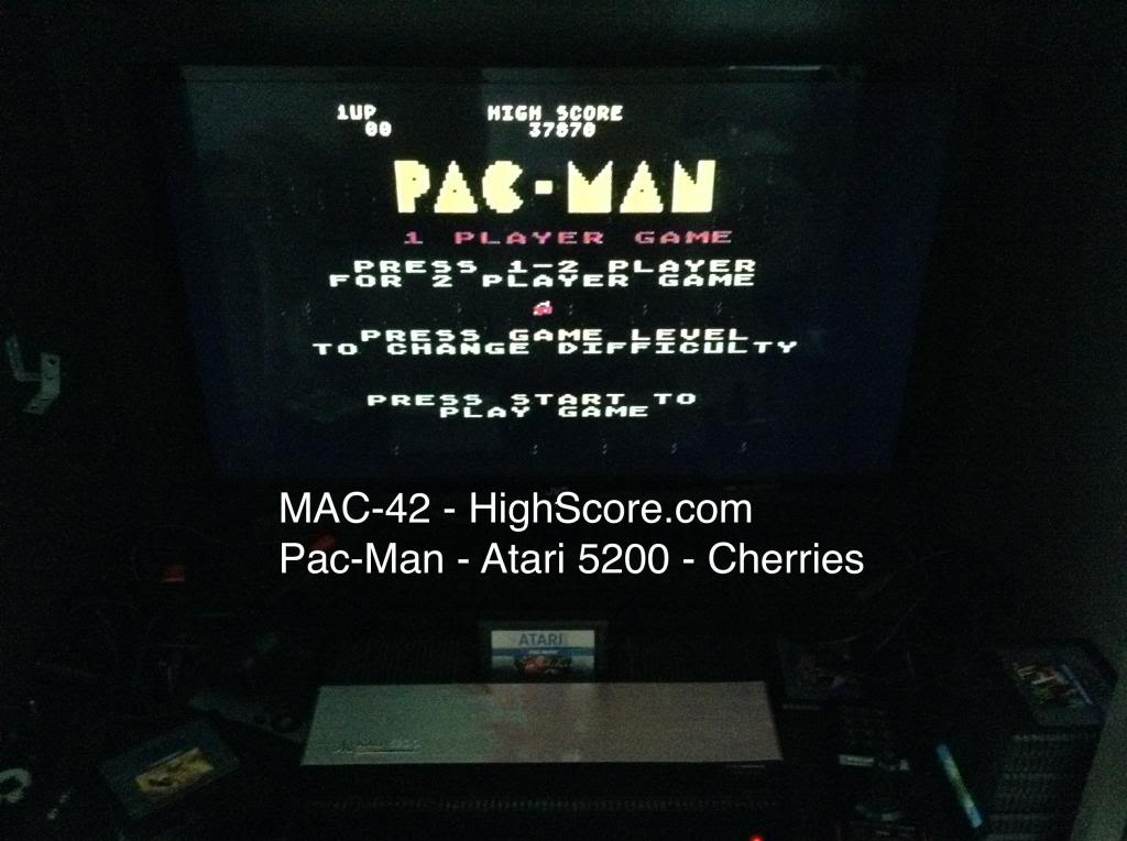 Pac-Man: Cherries Start 37,870 points