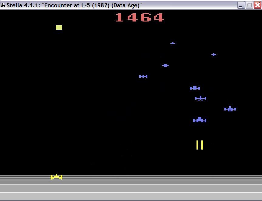uNi73: Encounter at L5 (Atari 2600 Emulated Novice/B Mode) 1,464 points on 2014-11-26 10:42:59