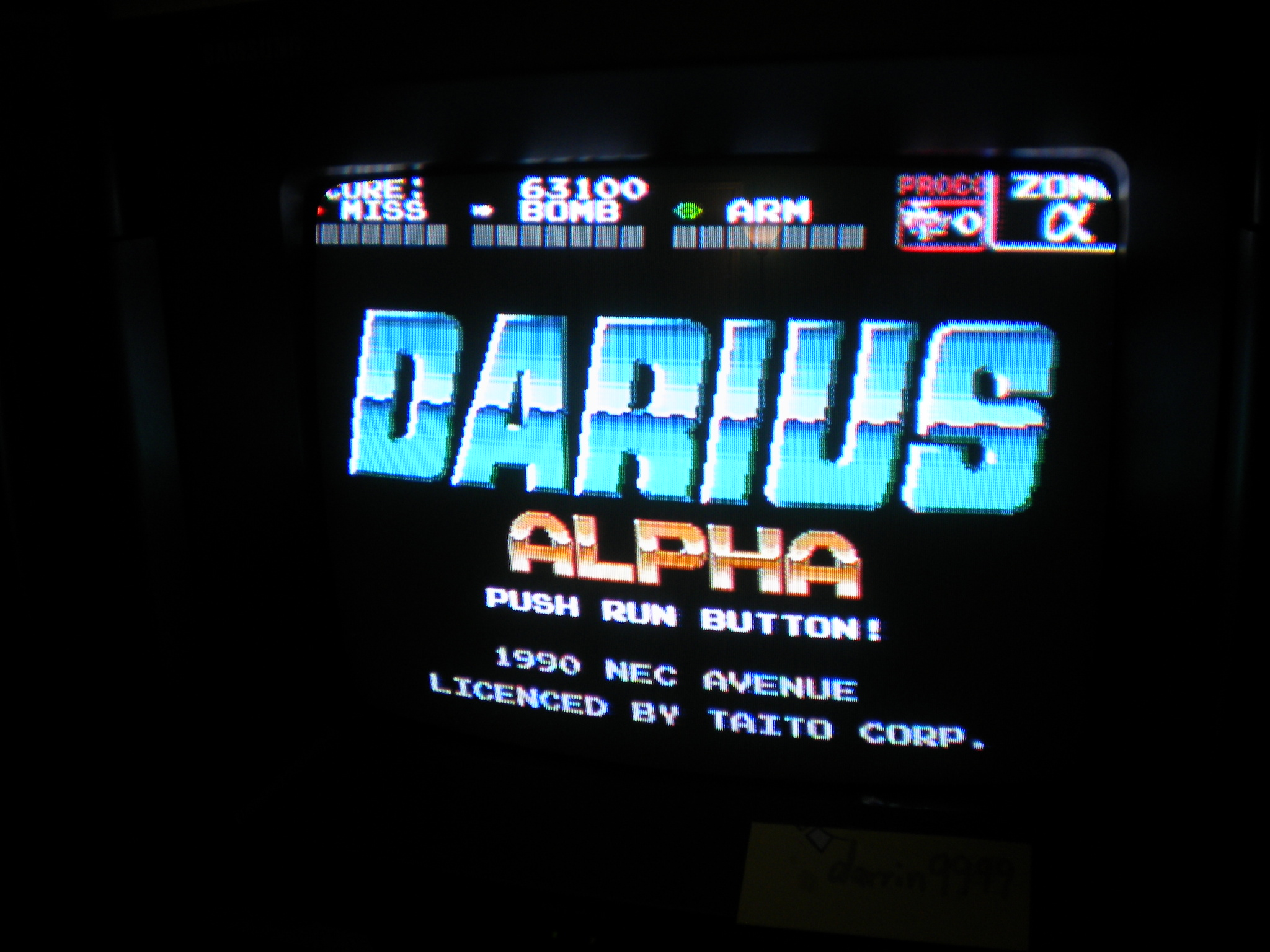 Darius Alpha 63,100 points