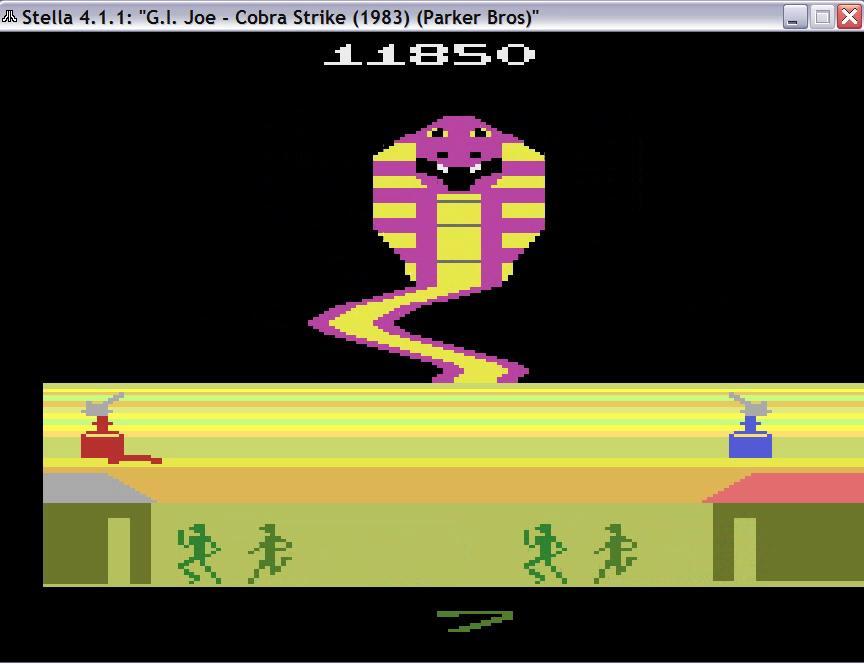 uNi73: G.I. Joe Cobra Strike (Atari 2600 Emulated Novice/B Mode) 11,850 points on 2014-11-27 00:14:15