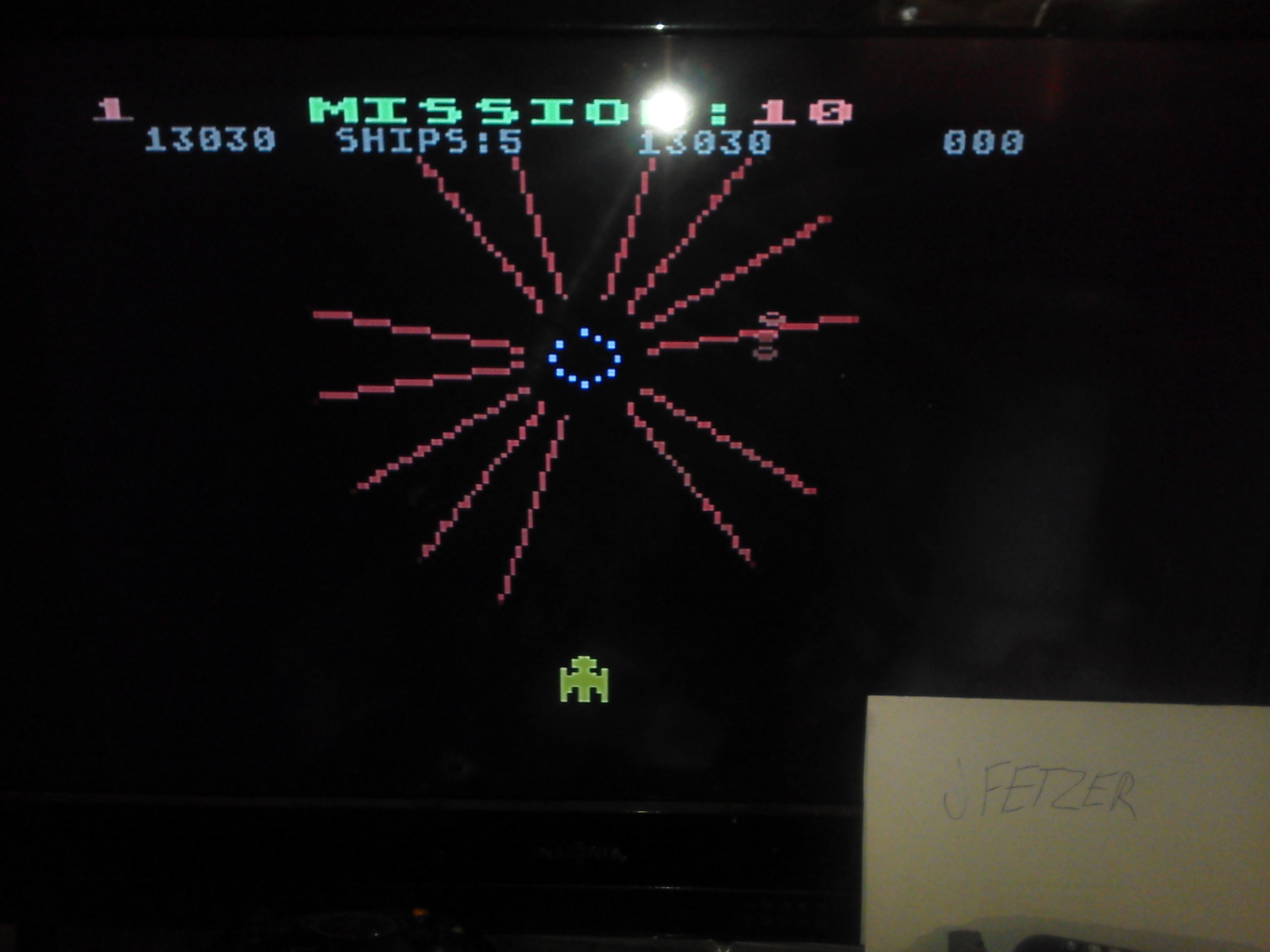 jfetzer: Gorf (Atari 5200 Emulated) 13,030 points on 2014-11-27 08:36:54