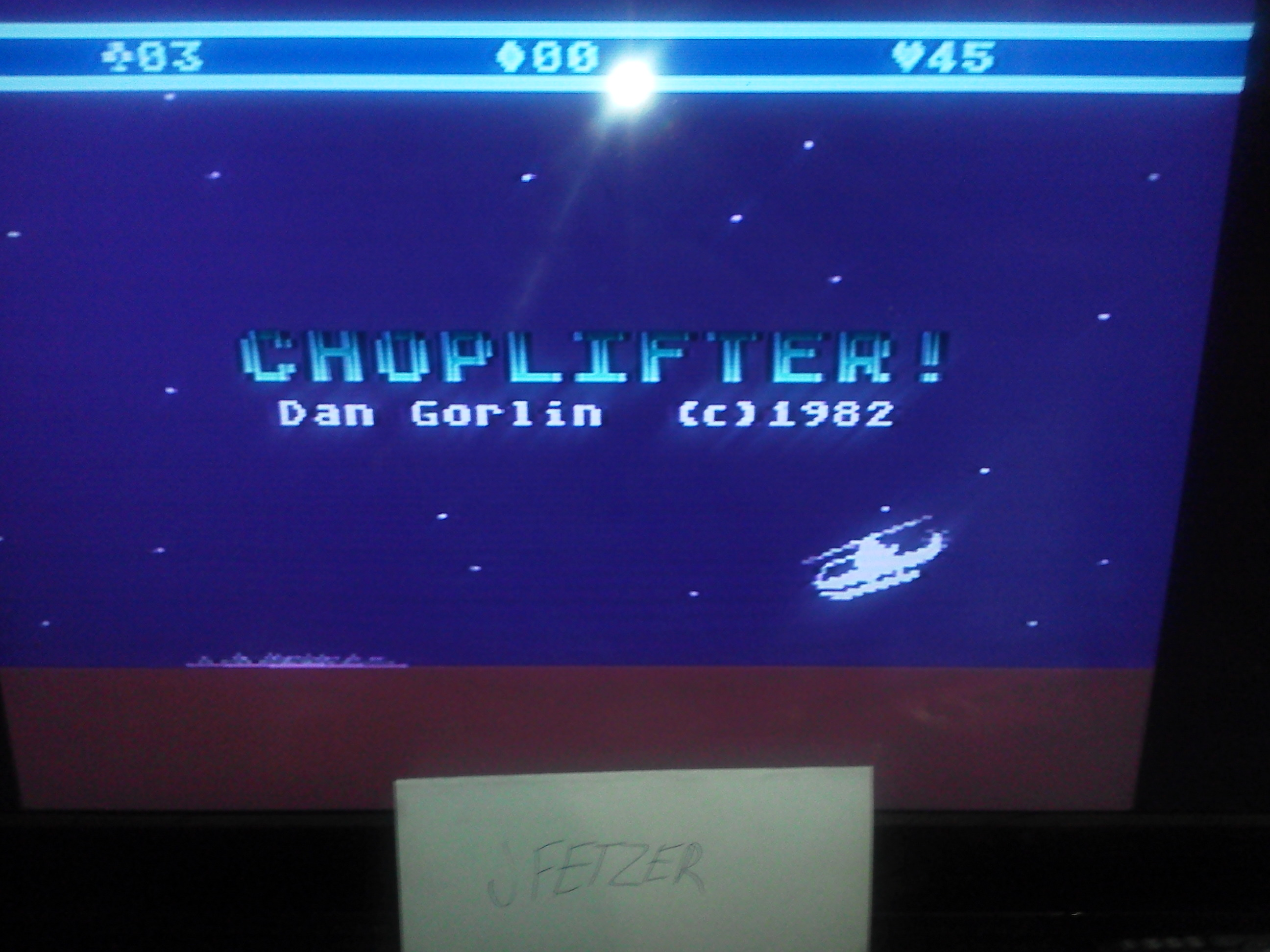 jfetzer: Choplifter! (Atari 5200 Emulated) 45 points on 2014-11-27 12:28:36