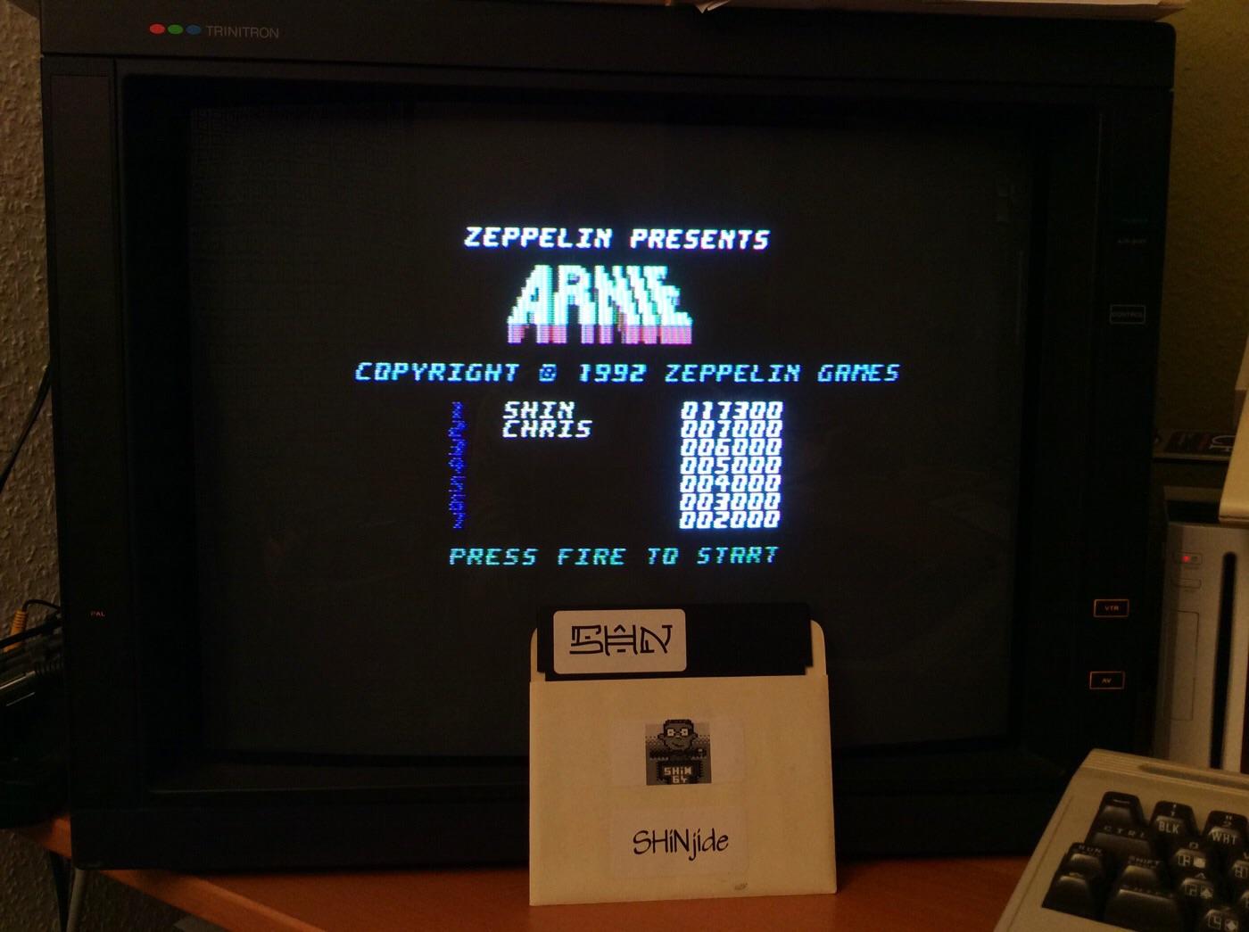 SHiNjide: Arnie (Commodore 64) 17,300 points on 2014-11-27 12:46:52