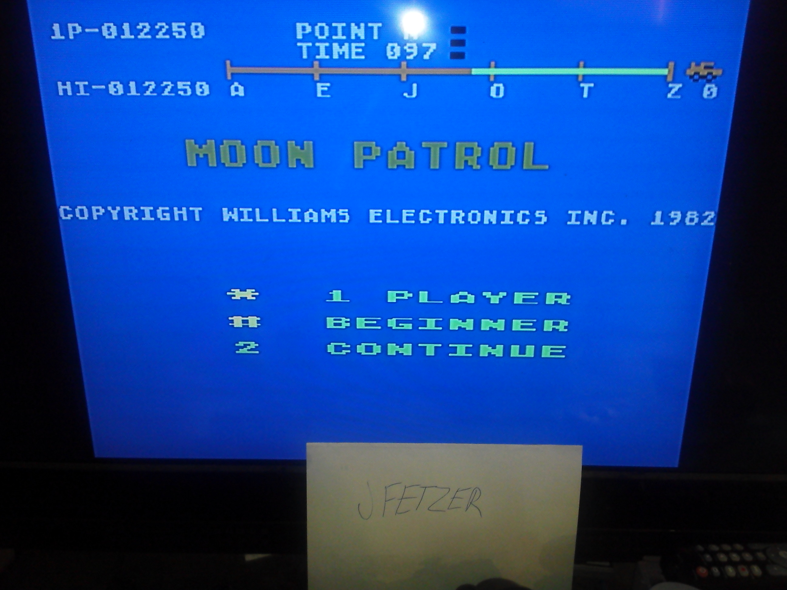 jfetzer: Moon Patrol: Beginner (Atari 5200 Emulated) 12,250 points on 2014-11-27 13:06:45