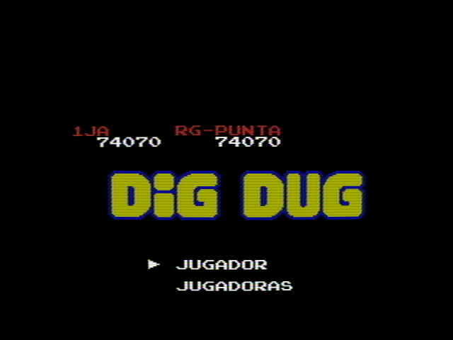 Dig Dug 74,070 points