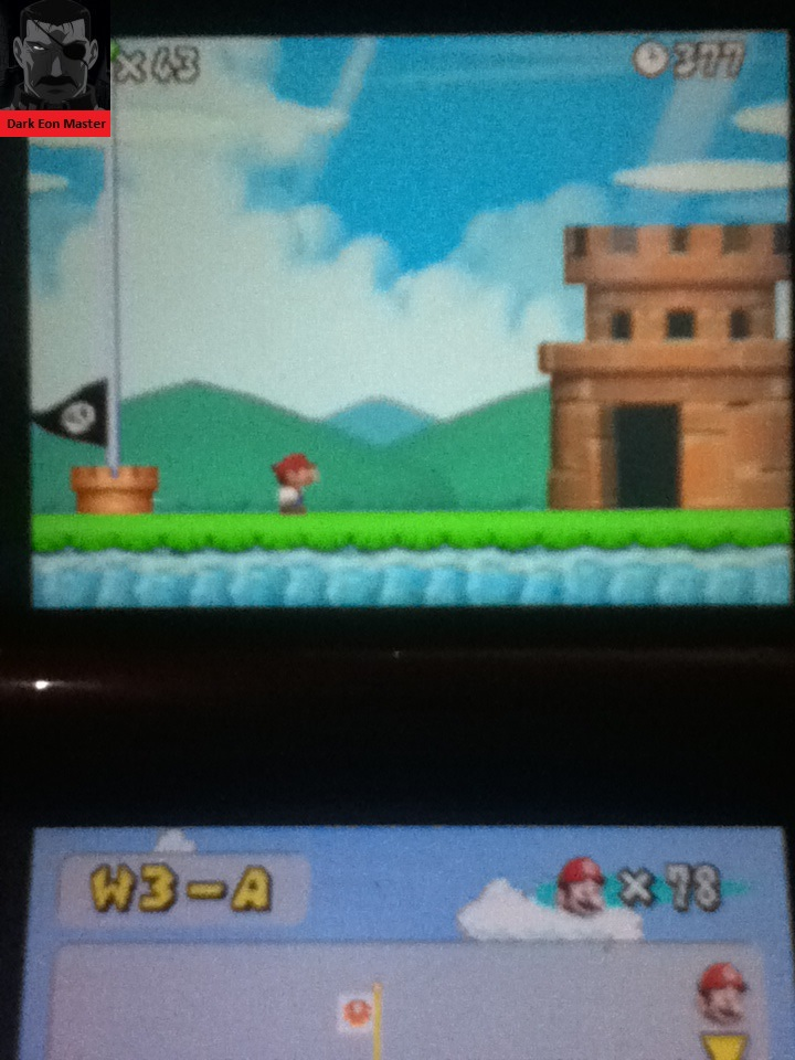DarkEonMaster: New Super Mario Bros.: World 3-A [Remaining Time] (Nintendo DS) 377 points on 2014-11-27 23:23:46