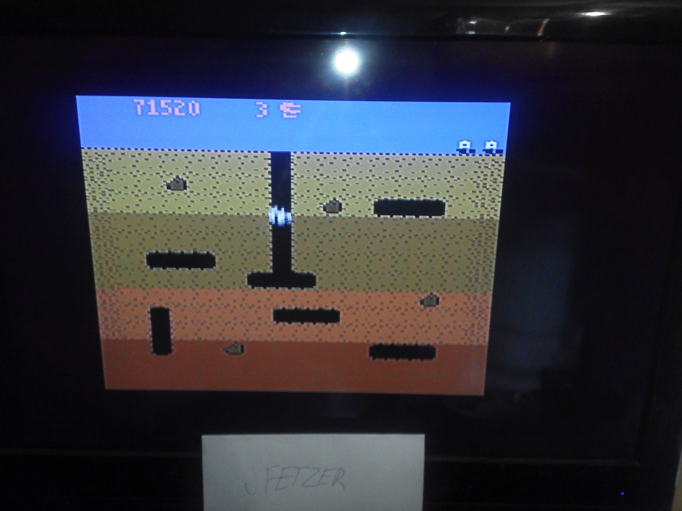 Dig Dug: Carrot Start 71,520 points