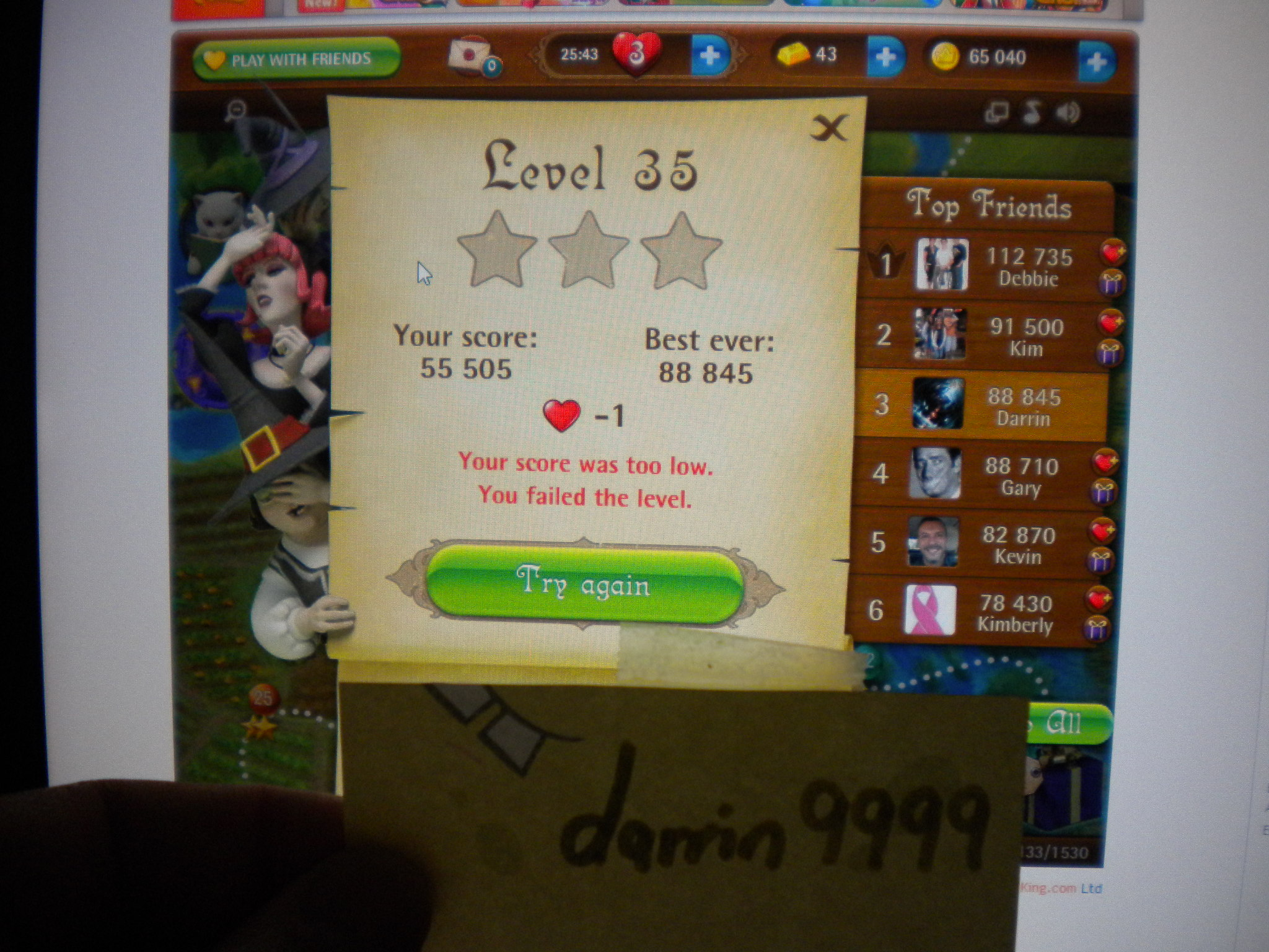 Bubble Witch Saga: Level 35 88,845 points