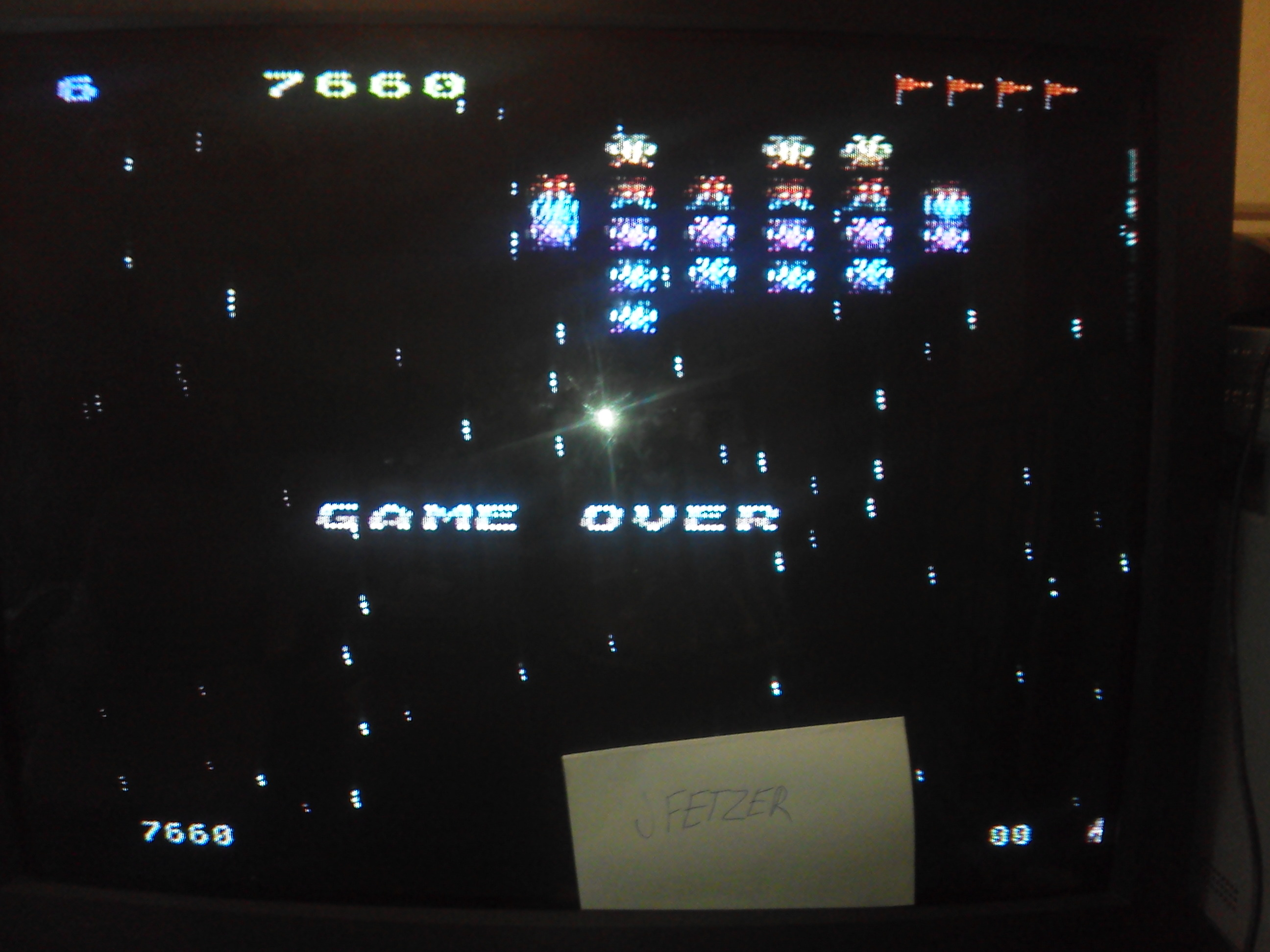 jfetzer: Galaxian: Skill Level 6 (Atari 5200) 7,660 points on 2014-11-28 10:11:57