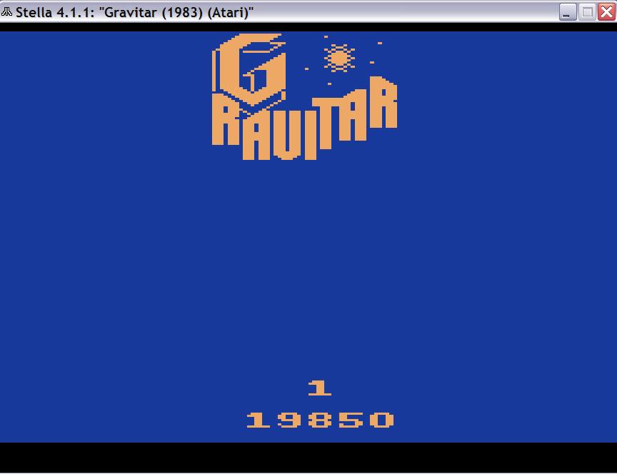 uNi73: Gravitar (Atari 2600 Emulated Novice/B Mode) 19,850 points on 2014-11-28 19:46:39
