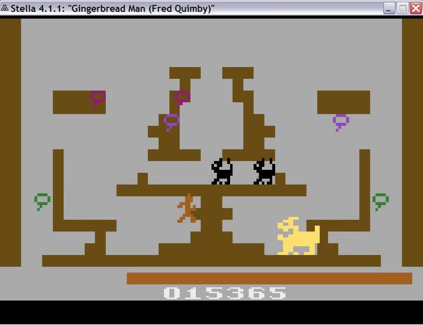 uNi73: Gingerbread Man (Atari 2600 Emulated Novice/B Mode) 15,365 points on 2014-11-29 08:13:40