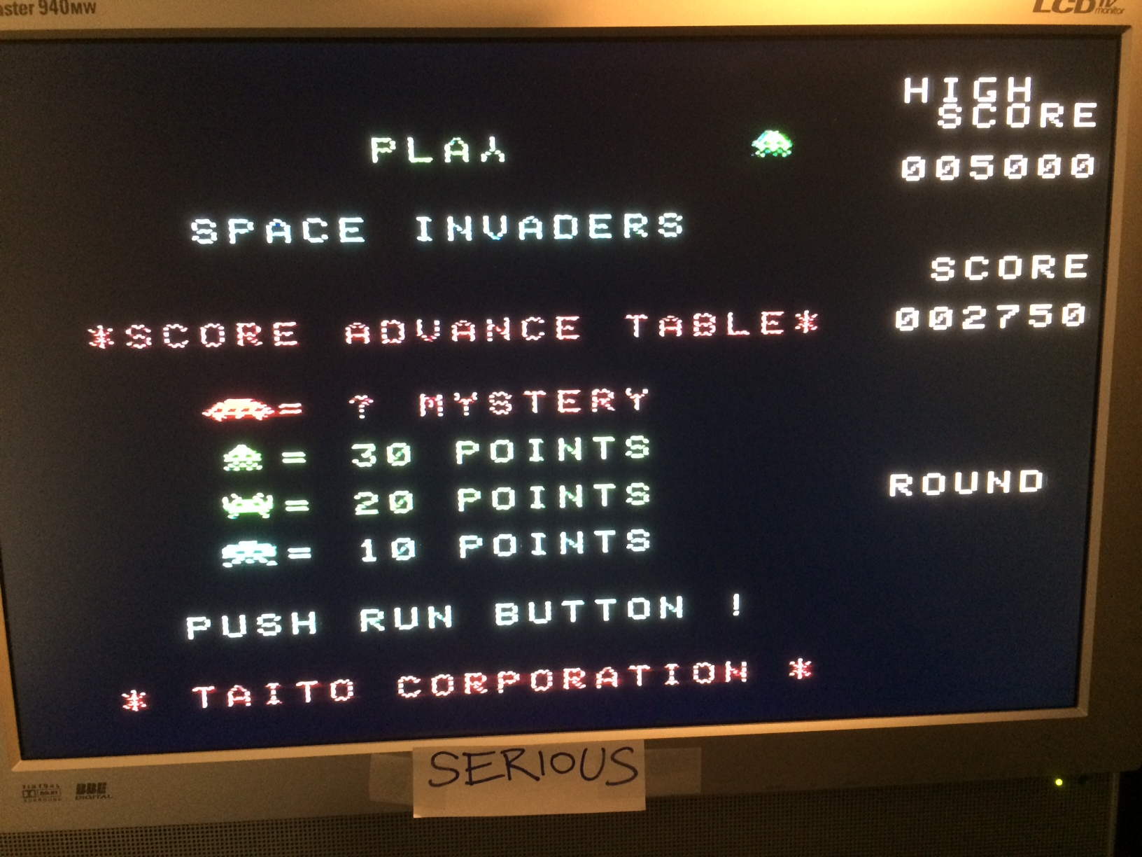 Serious: Space Invaders: Fukkatsu no Hi [Classic Mode] (TurboGrafx-16/PC Engine) 2,750 points on 2014-11-29 12:56:18