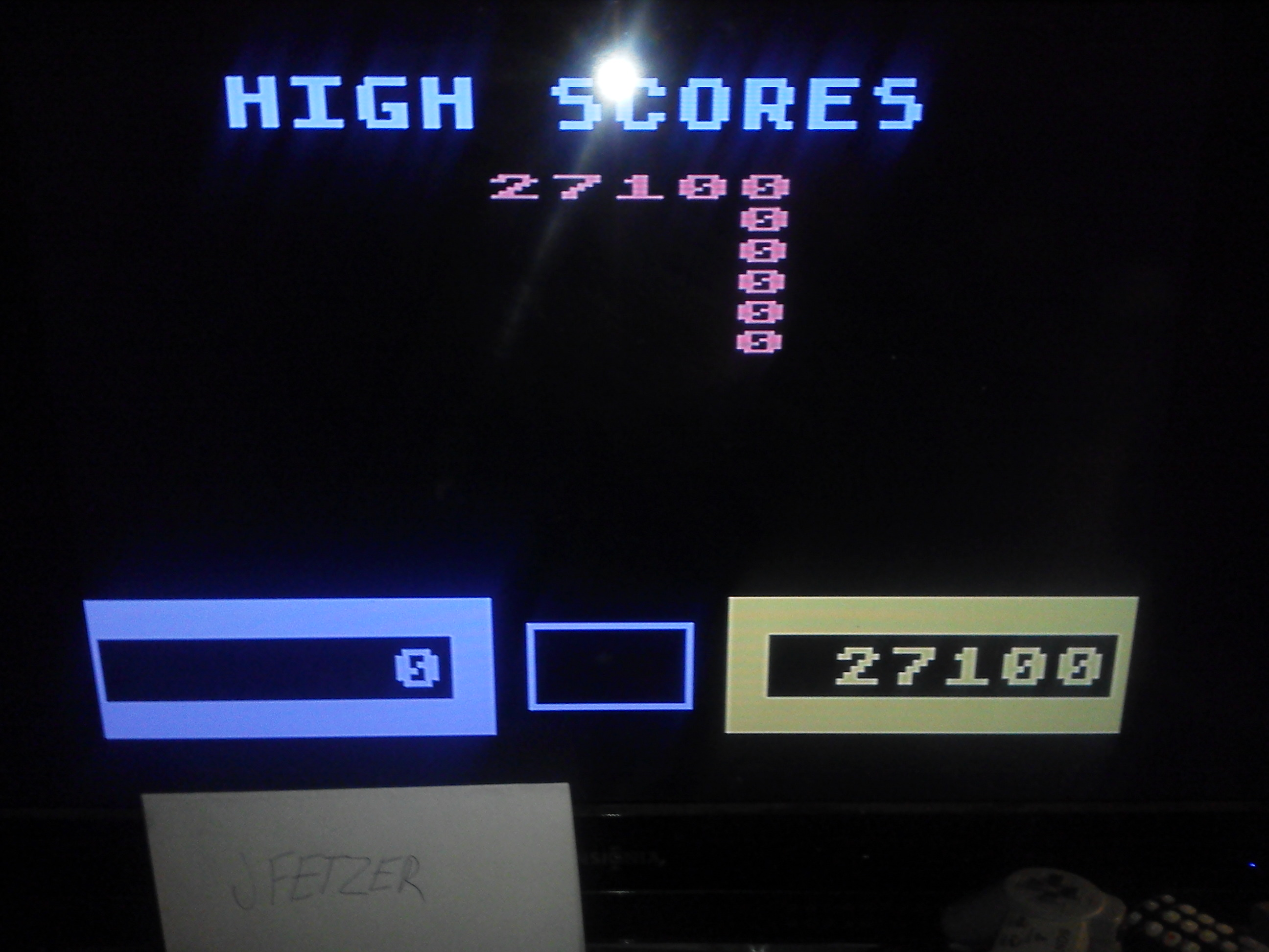 jfetzer: Wizard Of Wor (Atari 5200 Emulated) 27,100 points on 2014-11-29 20:31:27
