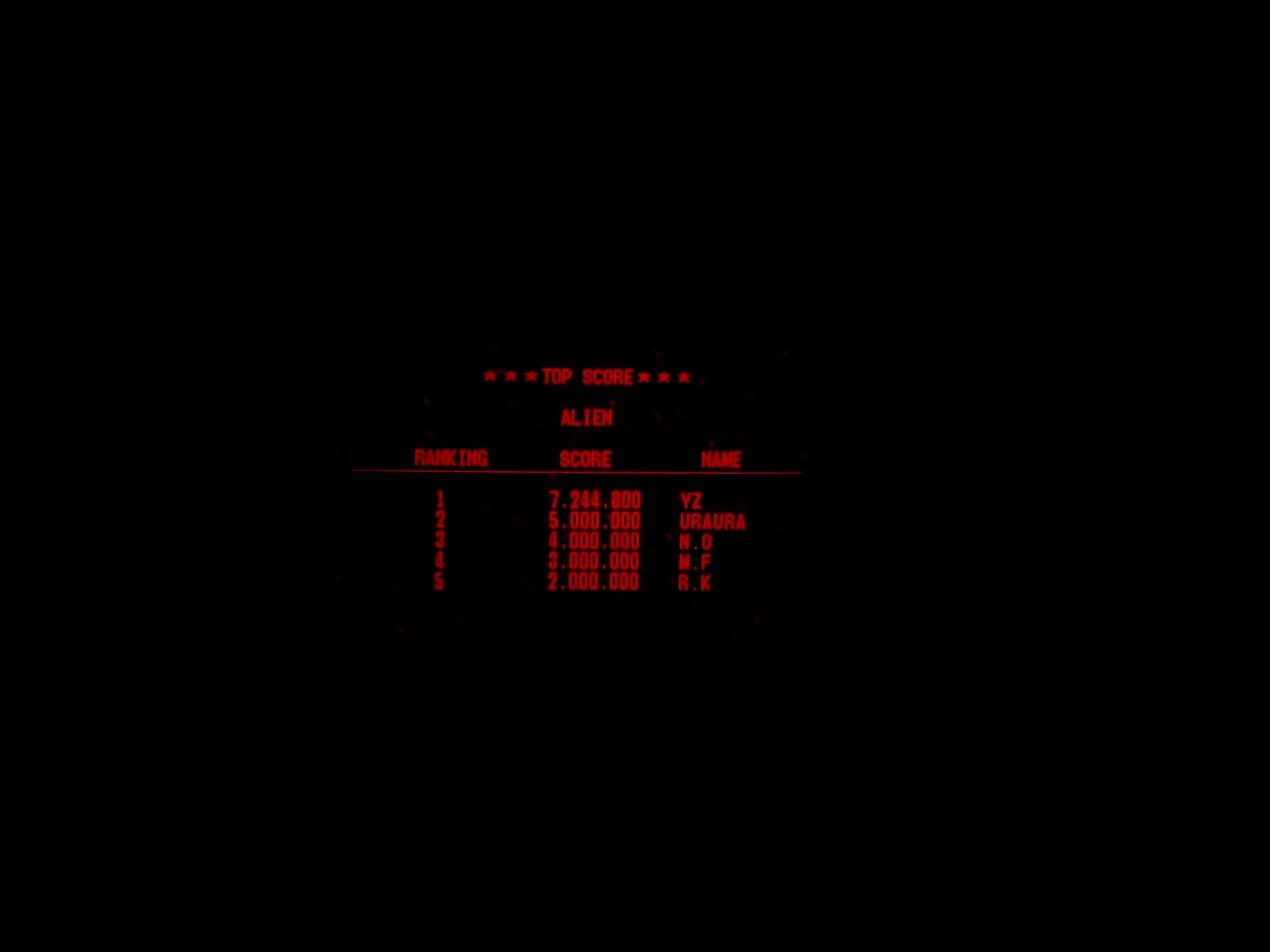 Galactic Pinball: Alien 7,244,800 points