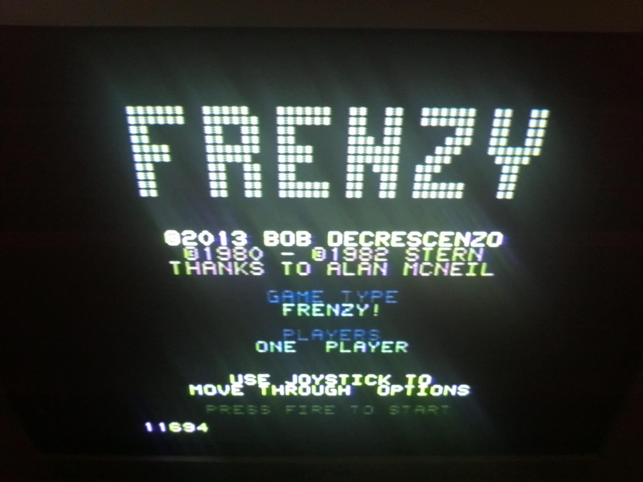 Frenzy 11,694 points