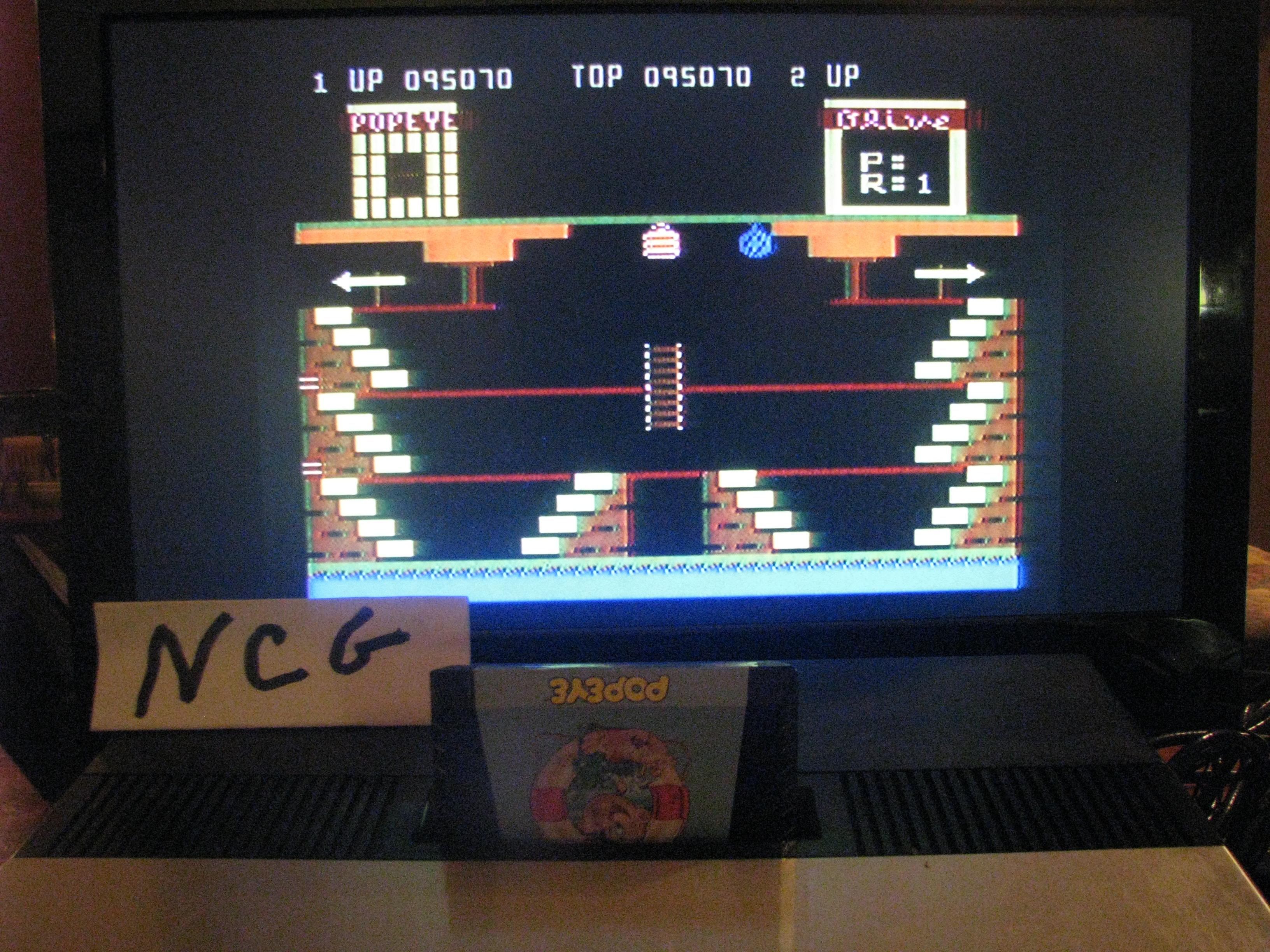 NorthCoastGamer: Popeye (Atari 5200) 95,070 points on 2014-11-30 18:50:31