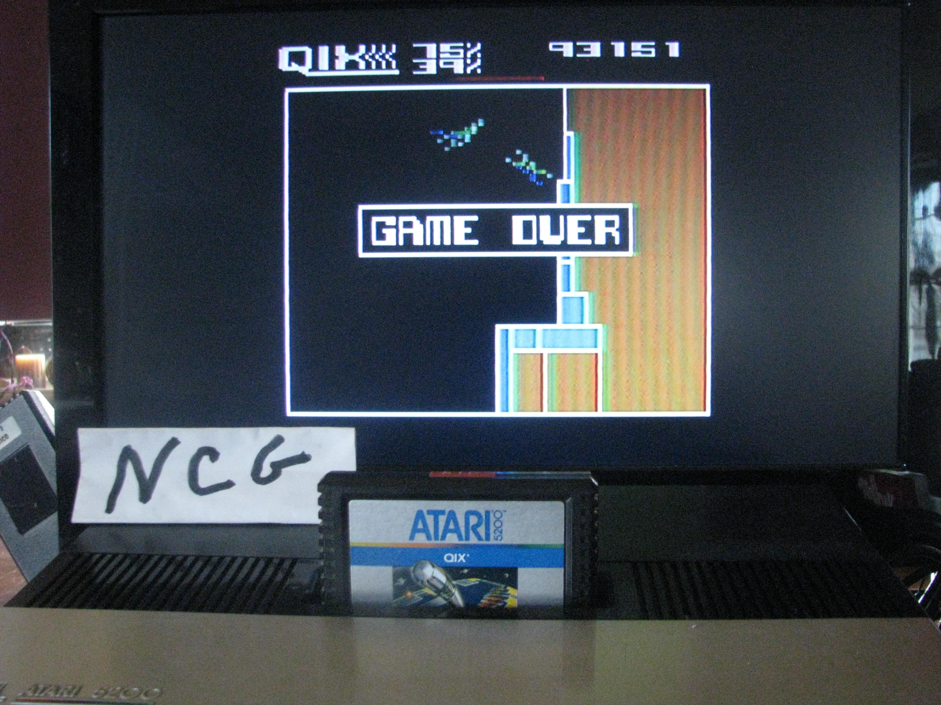 NorthCoastGamer: Qix: Advanced (Atari 5200) 93,151 points on 2014-11-30 19:00:13