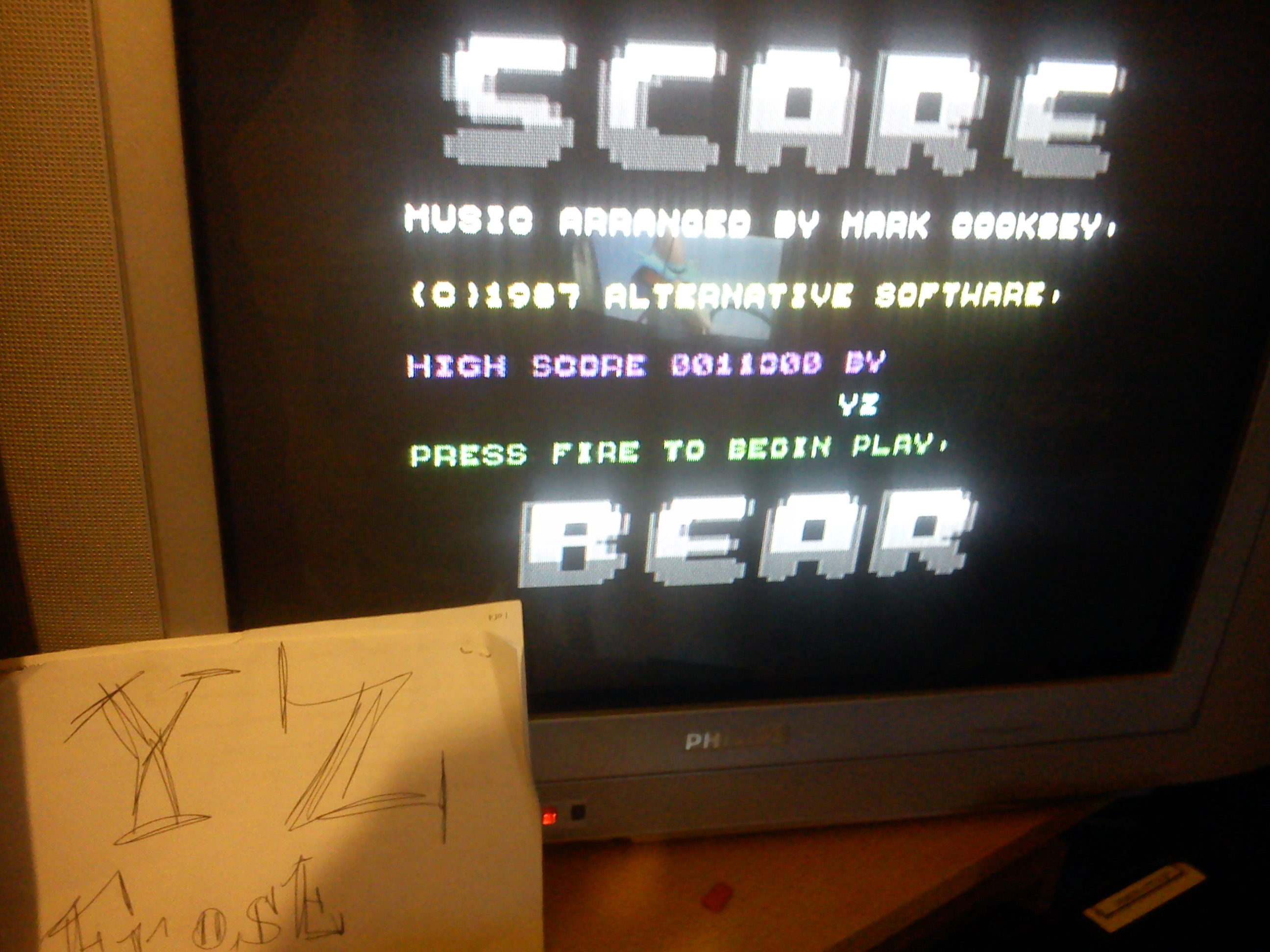 Scare Bear 11,300 points