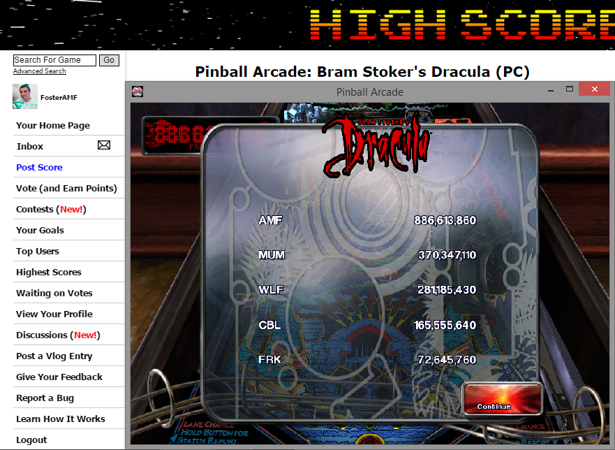 FosterAMF: Pinball Arcade: Bram Stoker