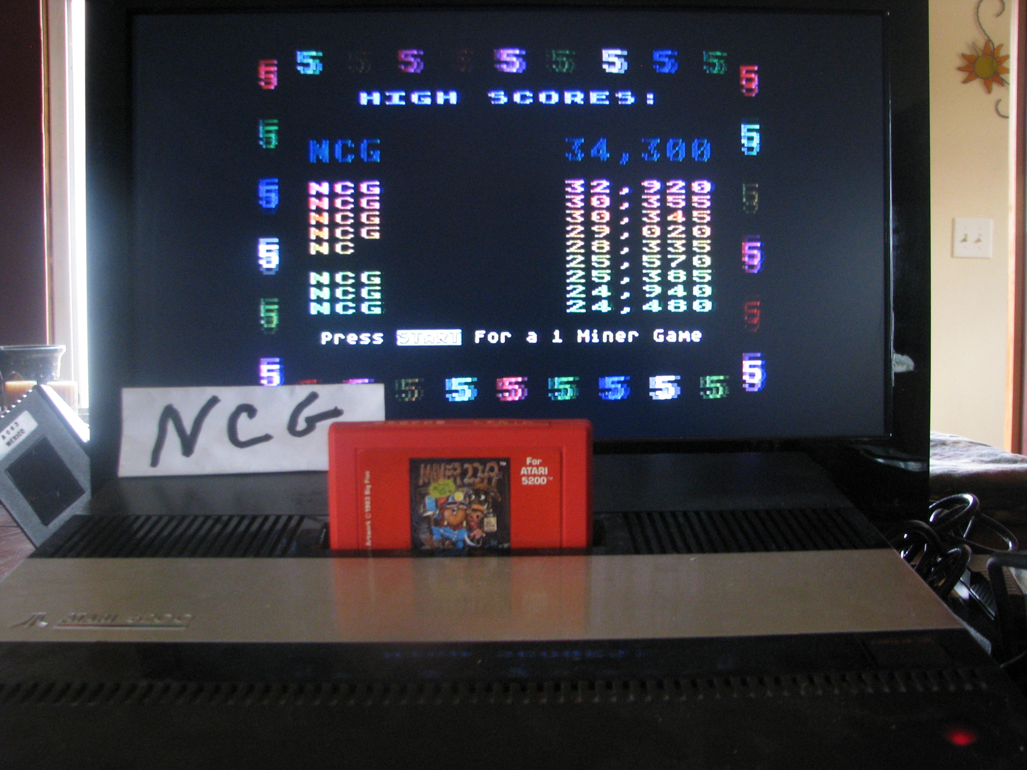 NorthCoastGamer: Miner 2049er (Atari 5200) 34,300 points on 2014-12-01 18:39:04