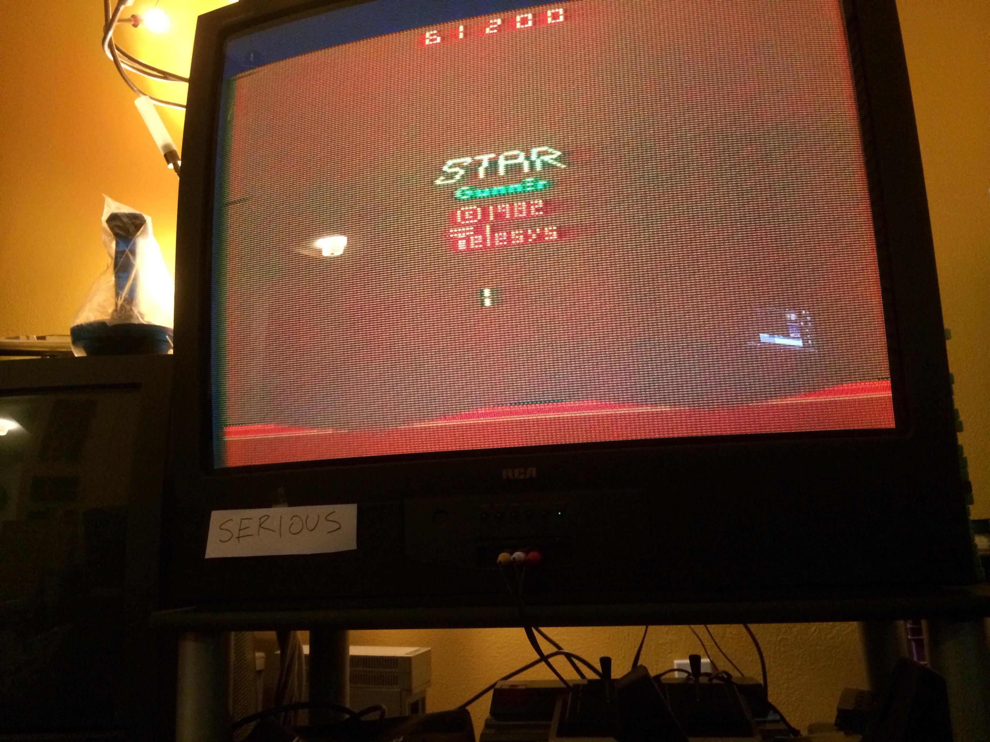 Serious: Stargunner (Atari 2600 Novice/B) 61,200 points on 2014-12-03 05:15:02