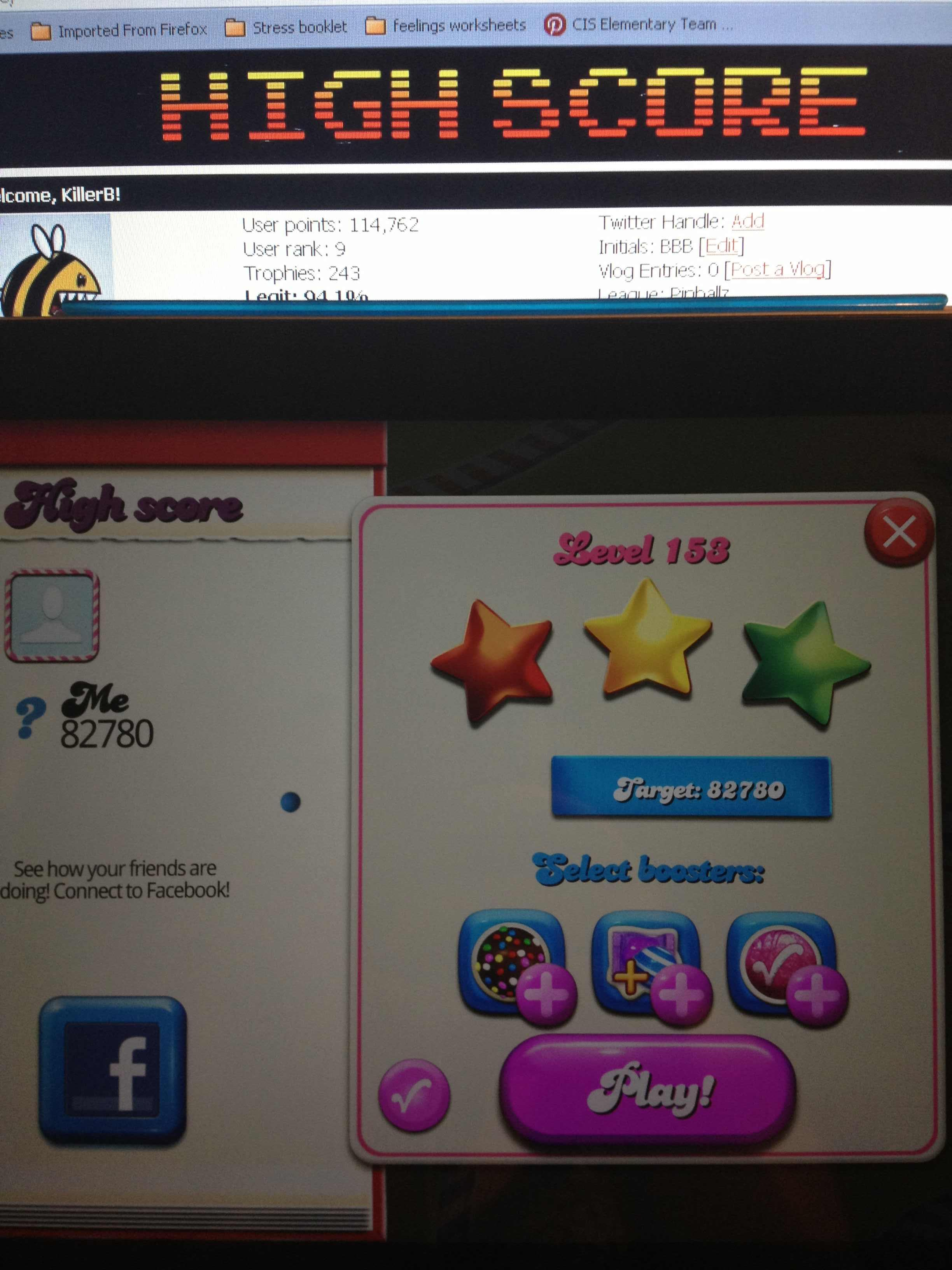 Candy Crush Saga: Level 153 82,780 points