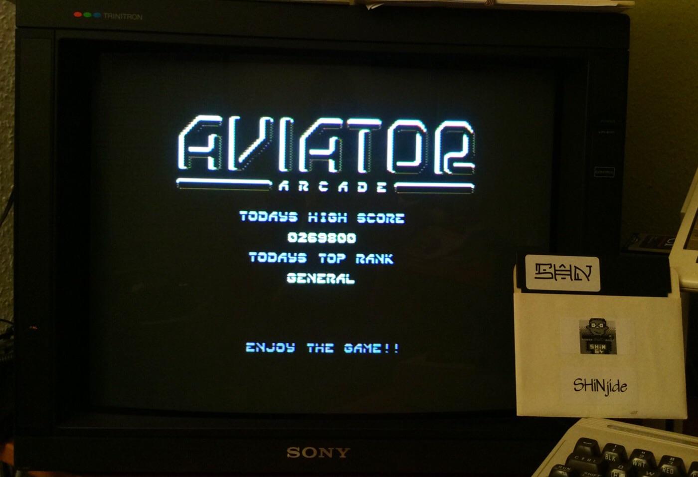 SHiNjide: Aviator Arcade (Commodore 64) 269,800 points on 2014-12-04 01:03:55
