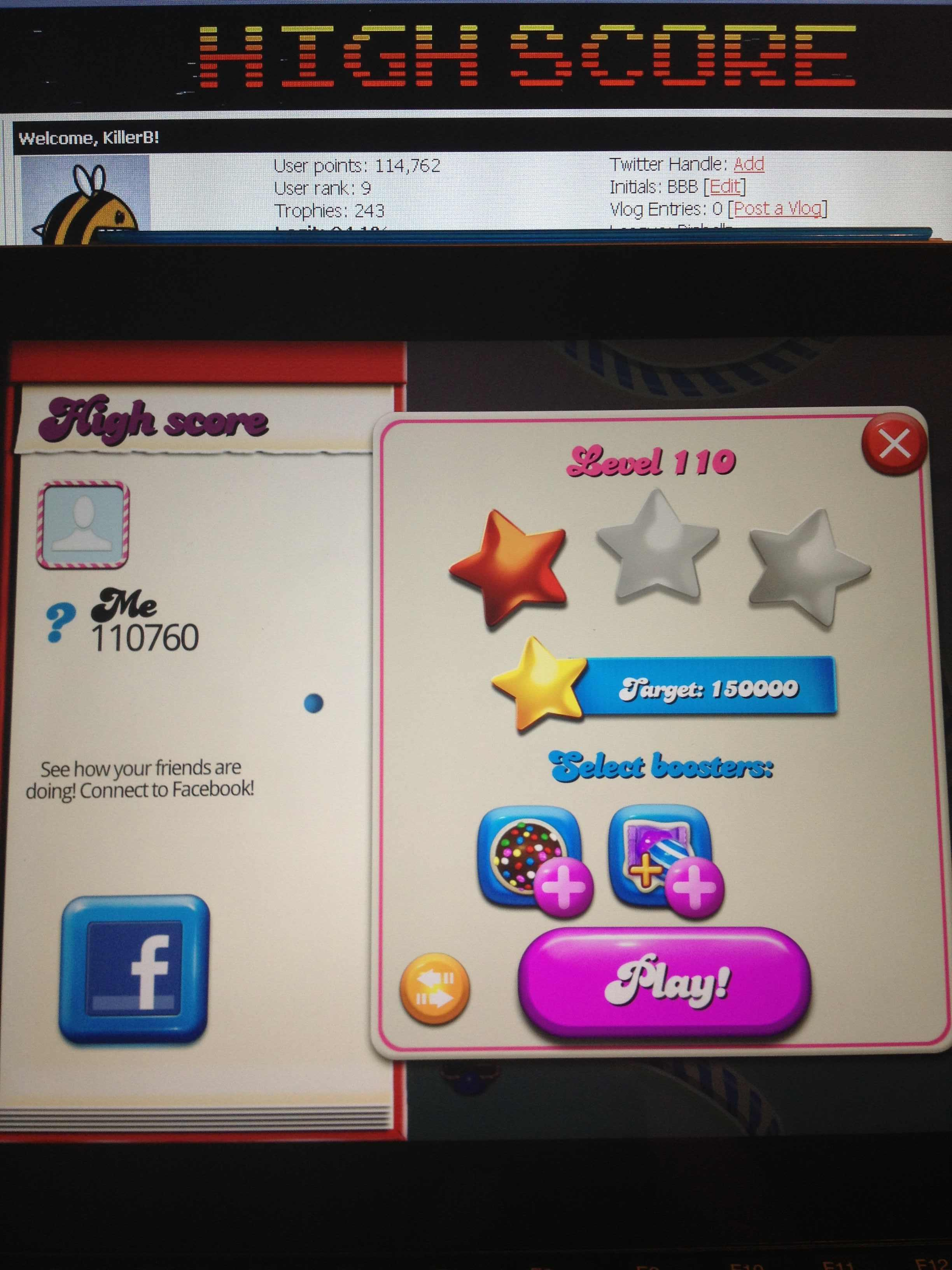 Candy Crush Saga: Level 110 110,760 points