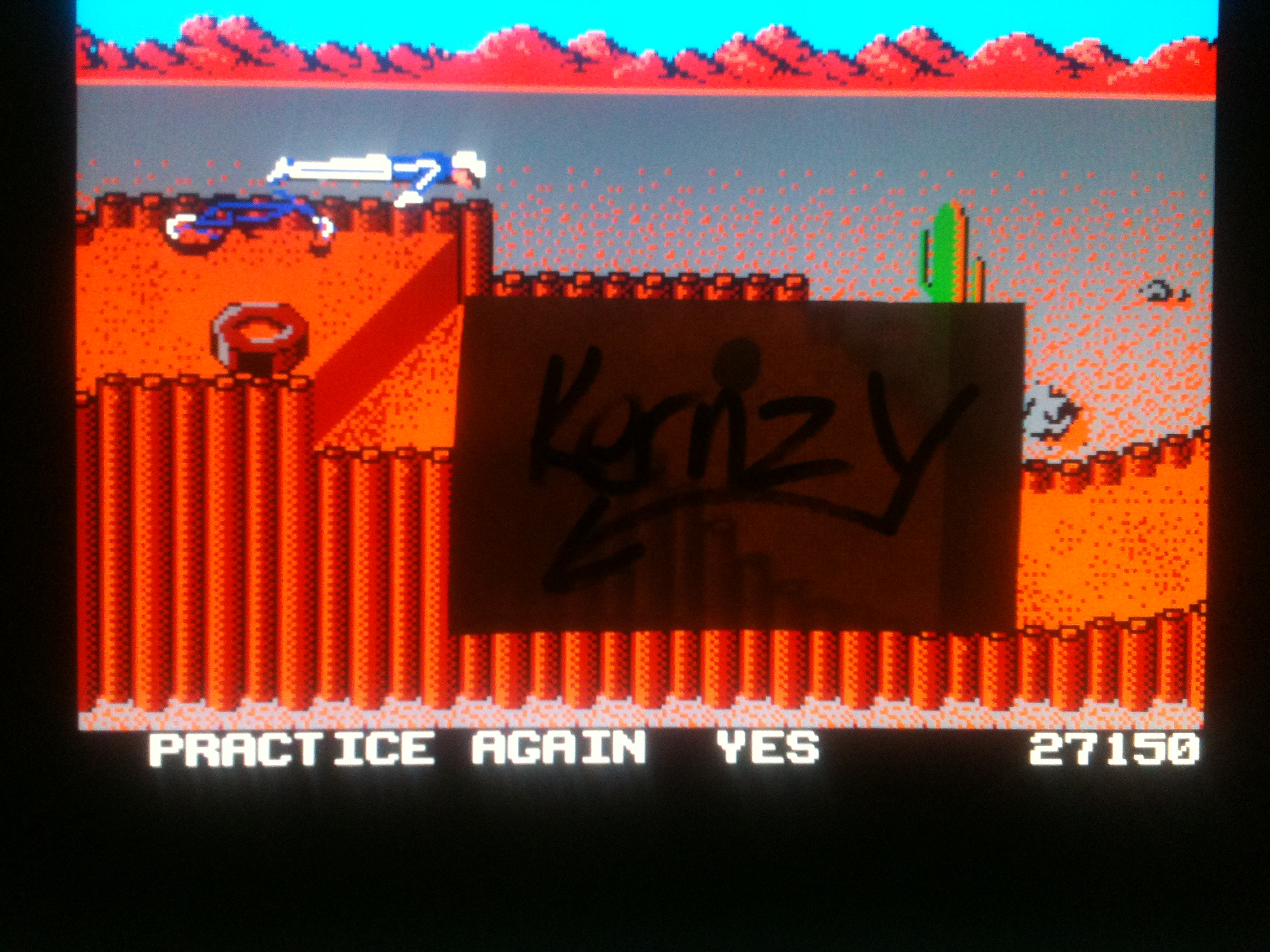 kernzy: California Games: BMX (NES/Famicom Emulated) 27,150 points on 2014-12-05 03:17:52