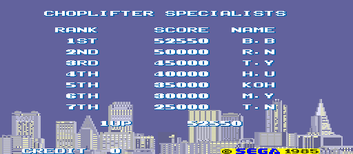 BarryBloso: Choplifter (Arcade Emulated / M.A.M.E.) 52,550 points on 2014-12-05 04:40:56