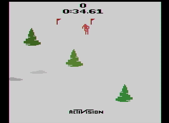 Scrabbler15: Skiing: Game 3 (Atari 2600 Emulated Expert/A Mode) 0:00:34.61 points on 2014-12-05 17:07:26