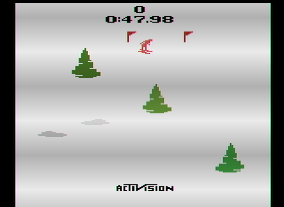 Scrabbler15: Skiing: Game 5 (Atari 2600 Emulated Expert/A Mode) 0:00:47.98 points on 2014-12-06 17:51:11