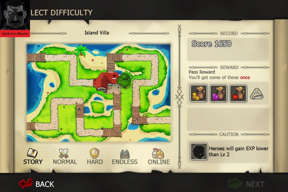 Element Defense: WATER: Island Villa [Story] 1,650 points