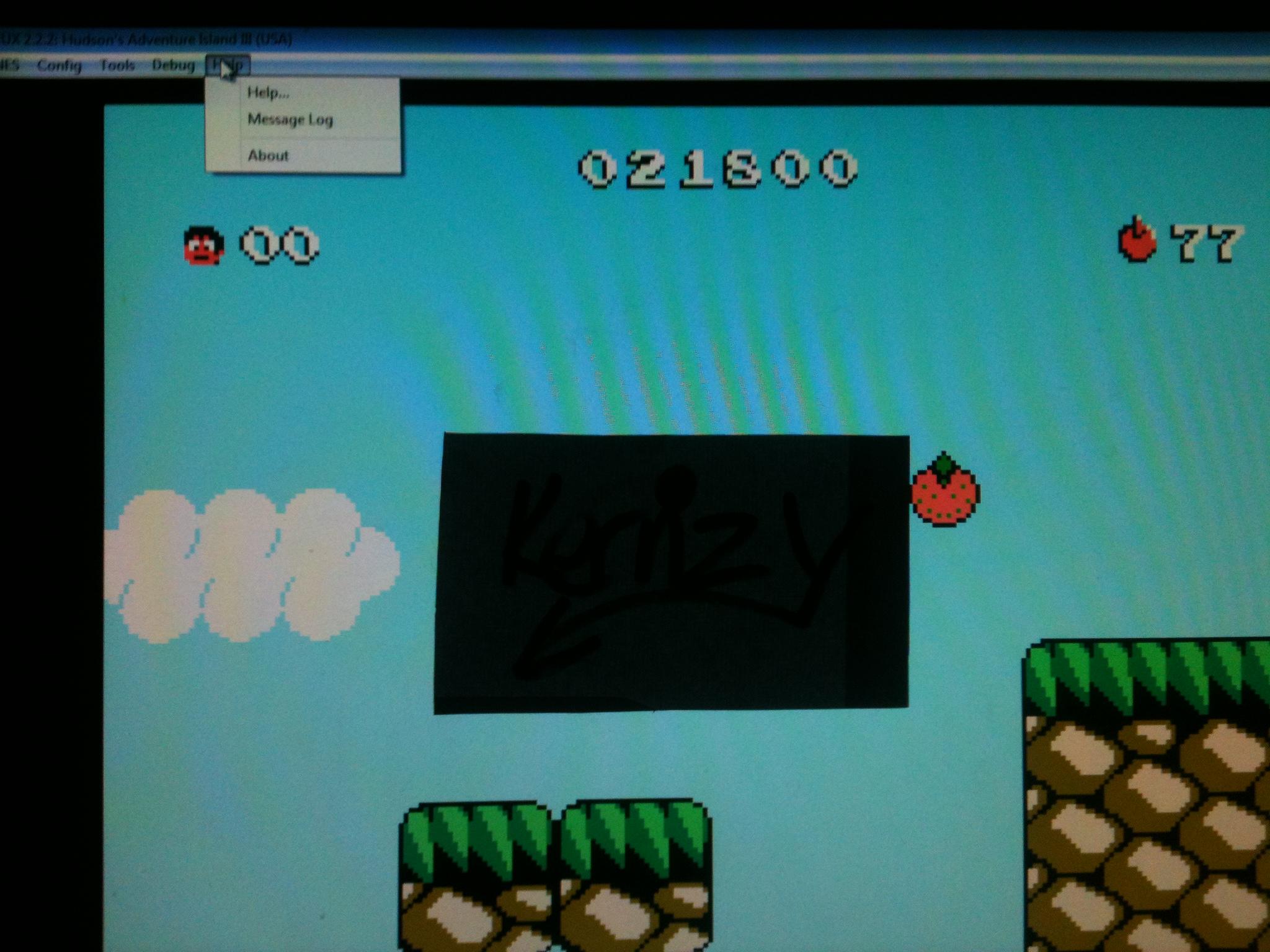 kernzy: Adventure Island III (NES/Famicom Emulated) 21,800 points on 2014-12-08 18:33:03